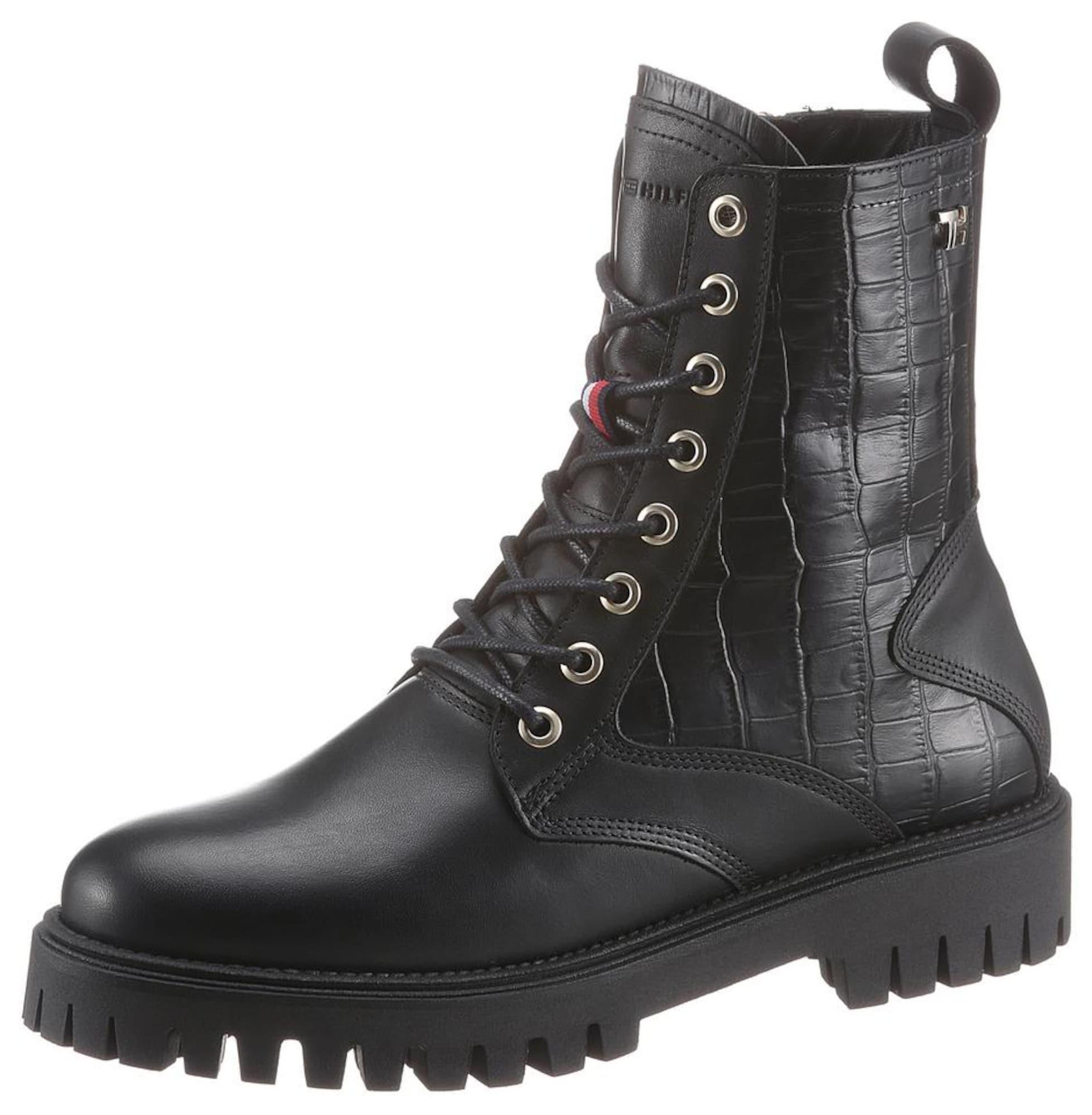 TOMMY HILFIGER Šněrovací boty  černá