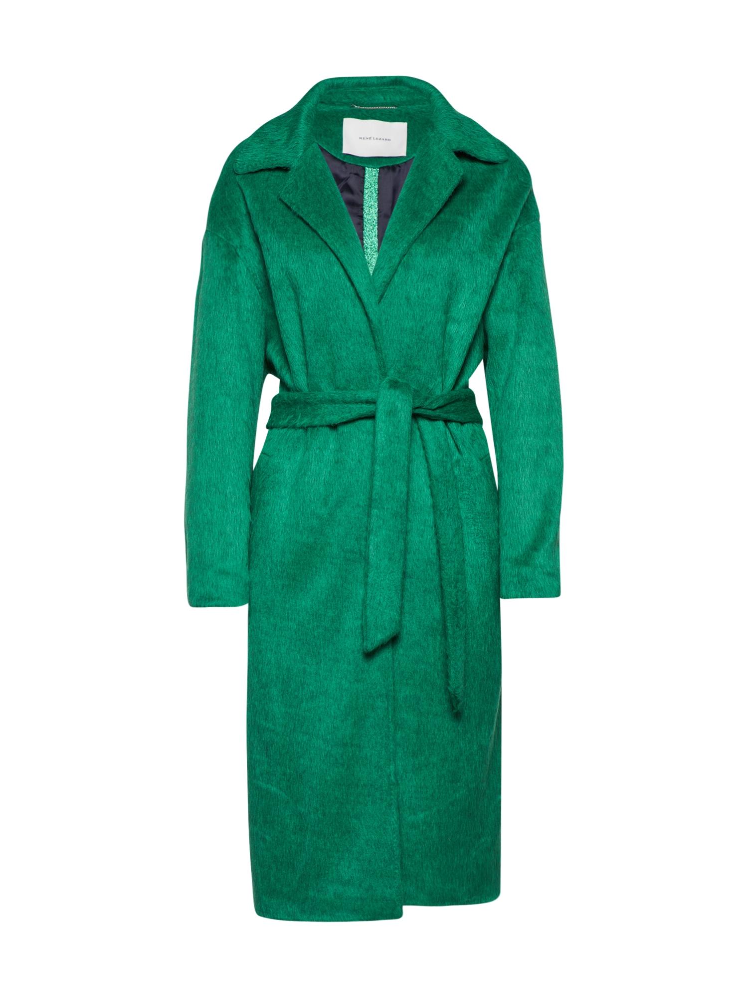Přechodný kabát zelená RENÉ LEZARD