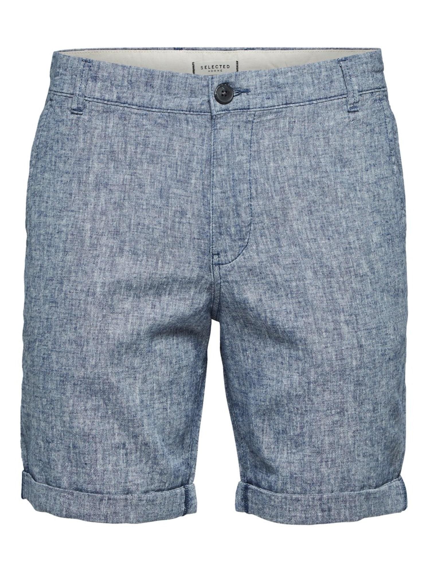 SELECTED HOMME Chino stiliaus kelnės margai mėlyna