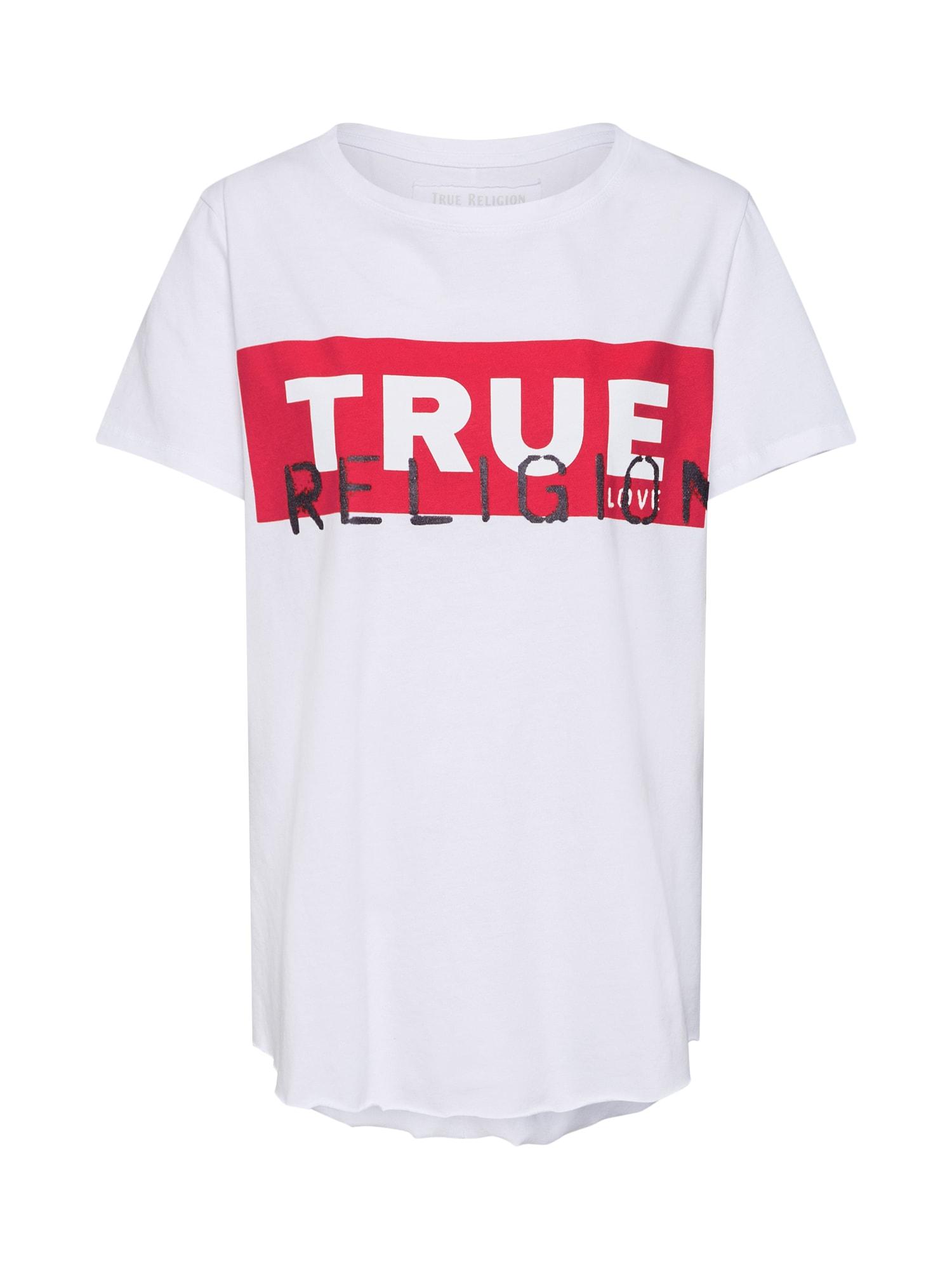 Tričko červená černá bílá True Religion
