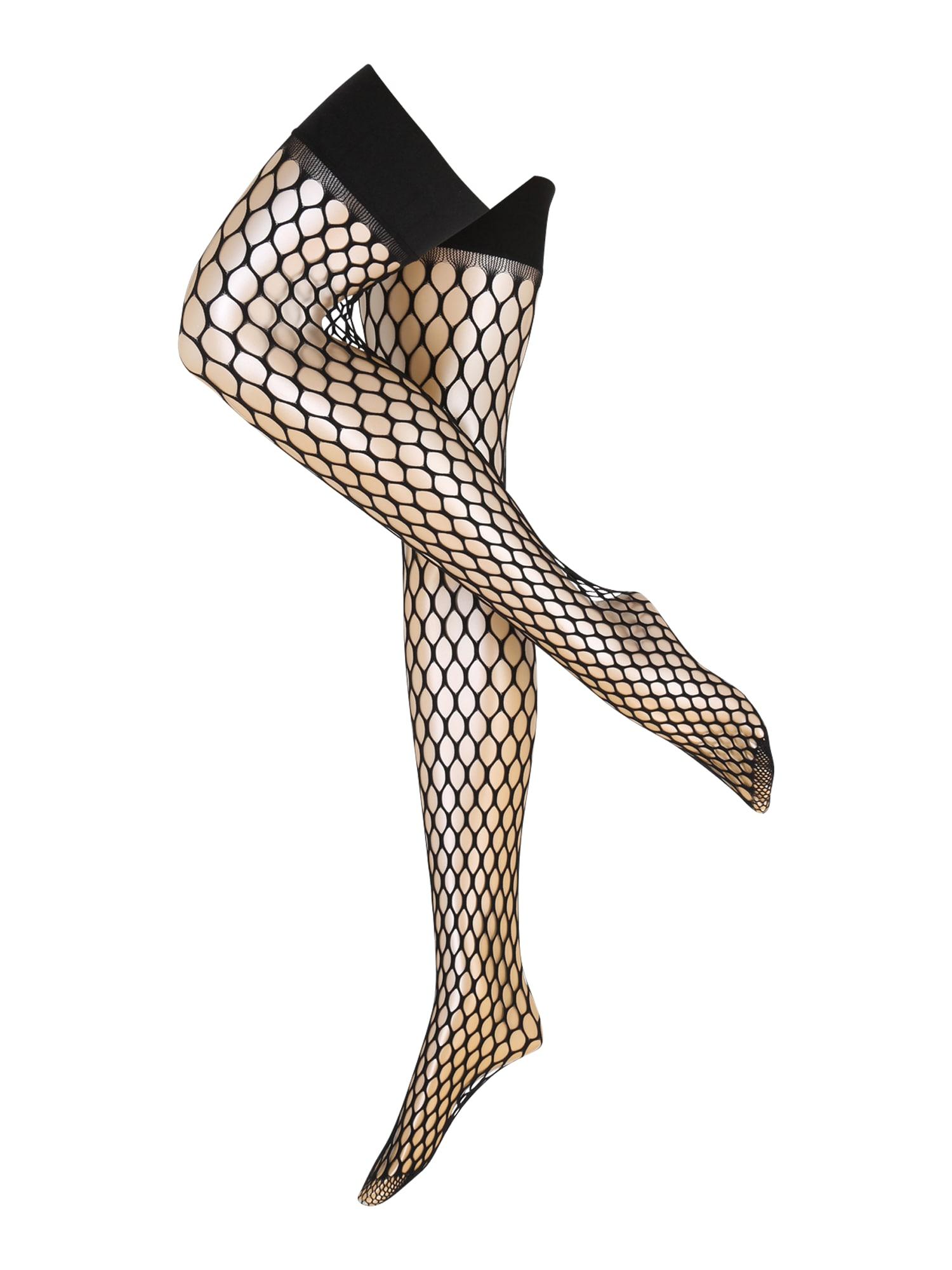 Hunkemöller Kojinaitės virš kelių 'Big Sexy Fishnet' juoda
