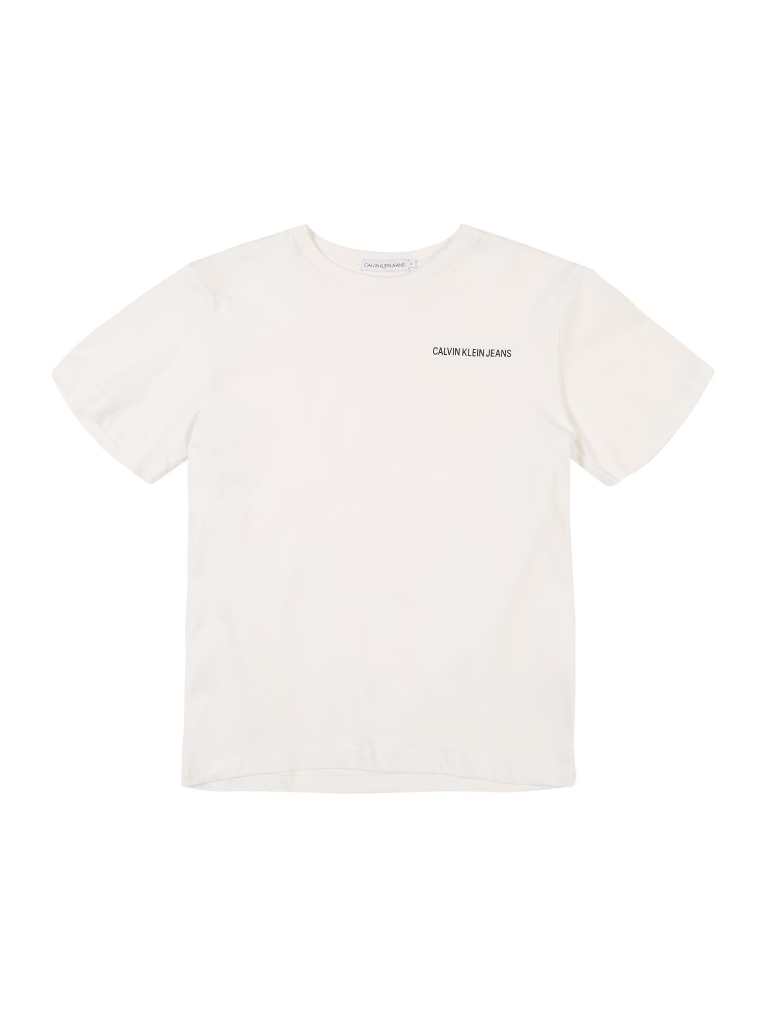 Calvin Klein Jeans Tričko 'CHEST LOGO REGULAR T'  bílá