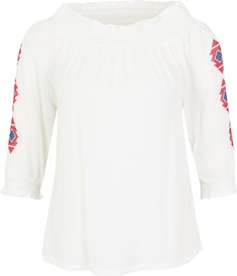 Tom Tailor Contemporary Off-Shoulder-Bluse mit Ethno-Print