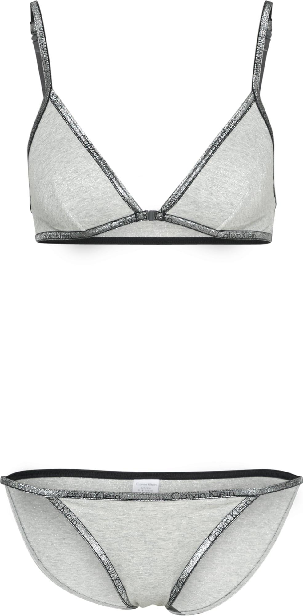 calvin klein underwear unterw sche set in grau about you. Black Bedroom Furniture Sets. Home Design Ideas