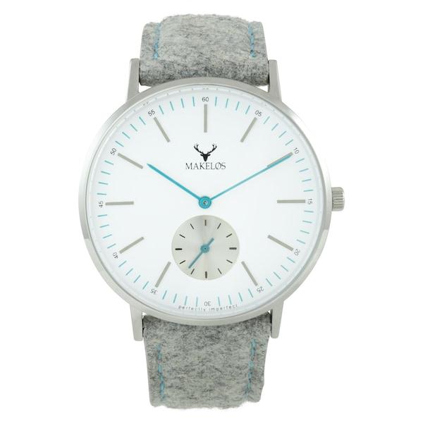 Uhren für Frauen - MAKELØS Armbanduhr 'SØLV GRA' mit Filzband grau  - Onlineshop ABOUT YOU