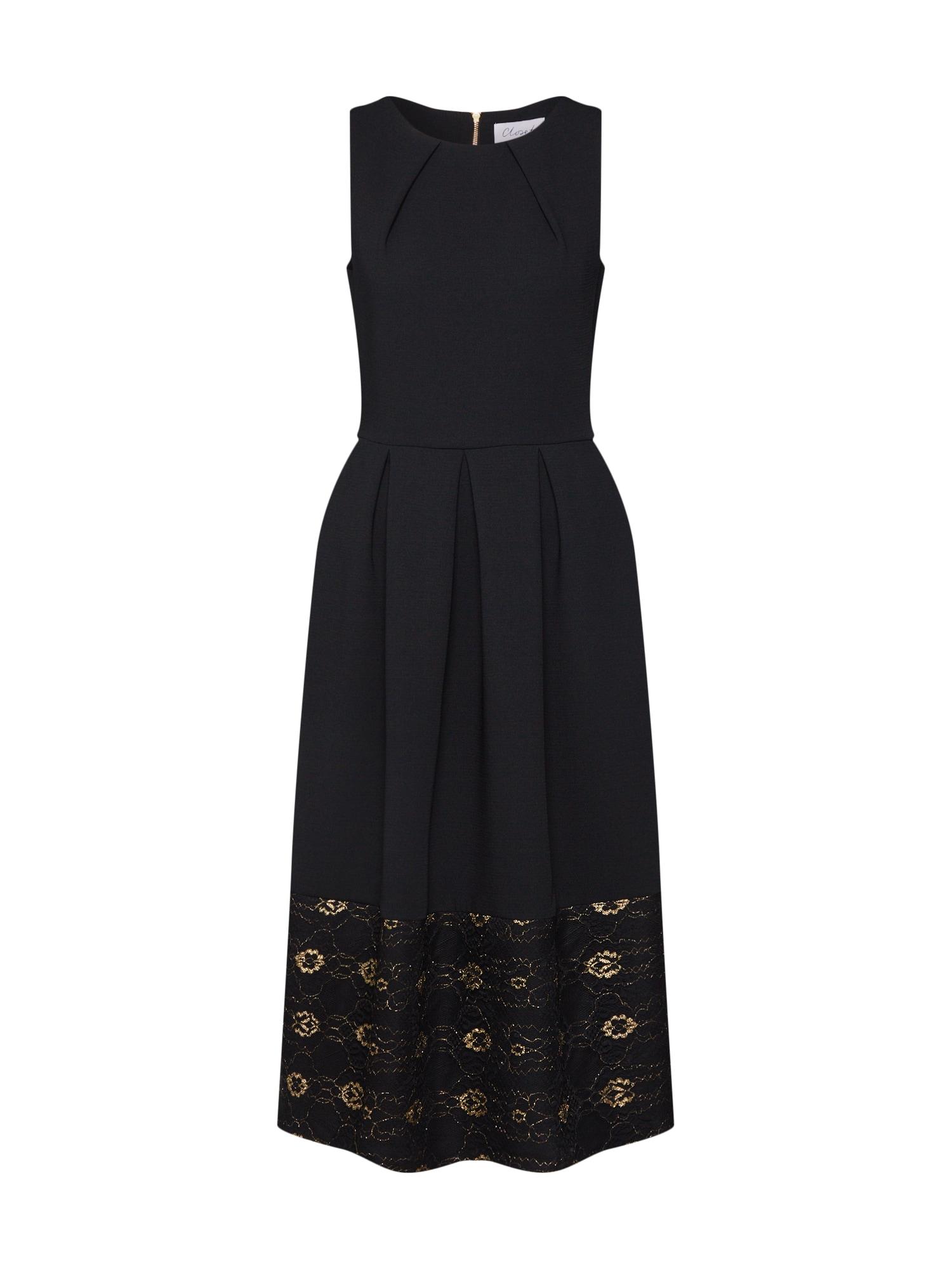 Šaty Closet Lace Hem Dress černá Closet London