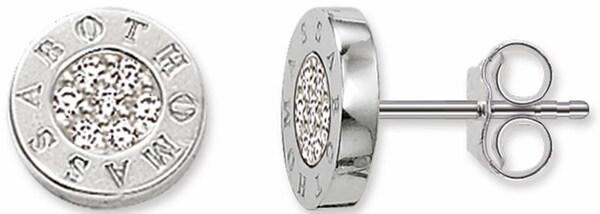 Ohrringe für Frauen - Thomas Sabo Paar Ohrstecker 'H1547 051 14' silber weiß  - Onlineshop ABOUT YOU