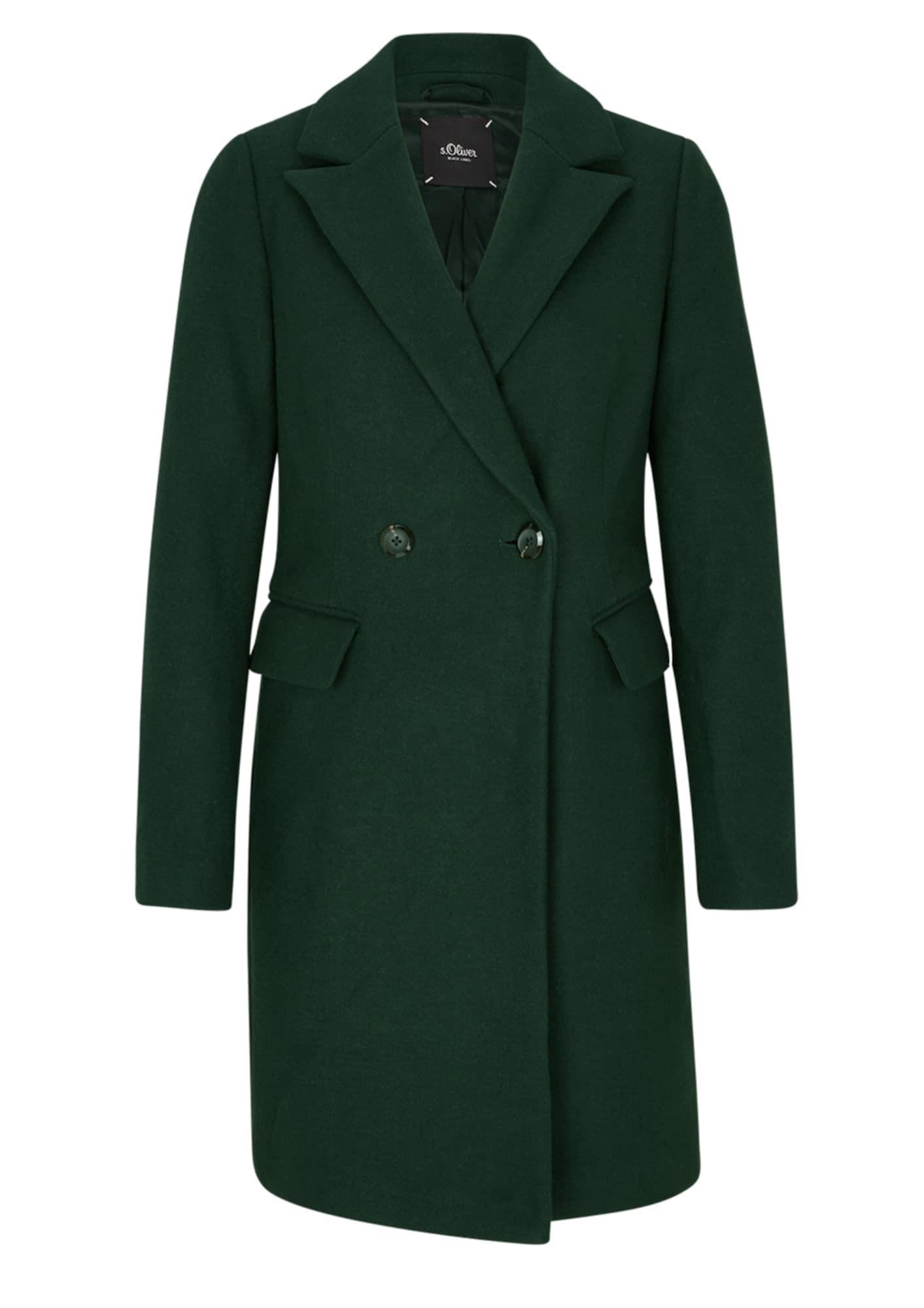 s.Oliver BLACK LABEL Prechodný kabát  smaragdová