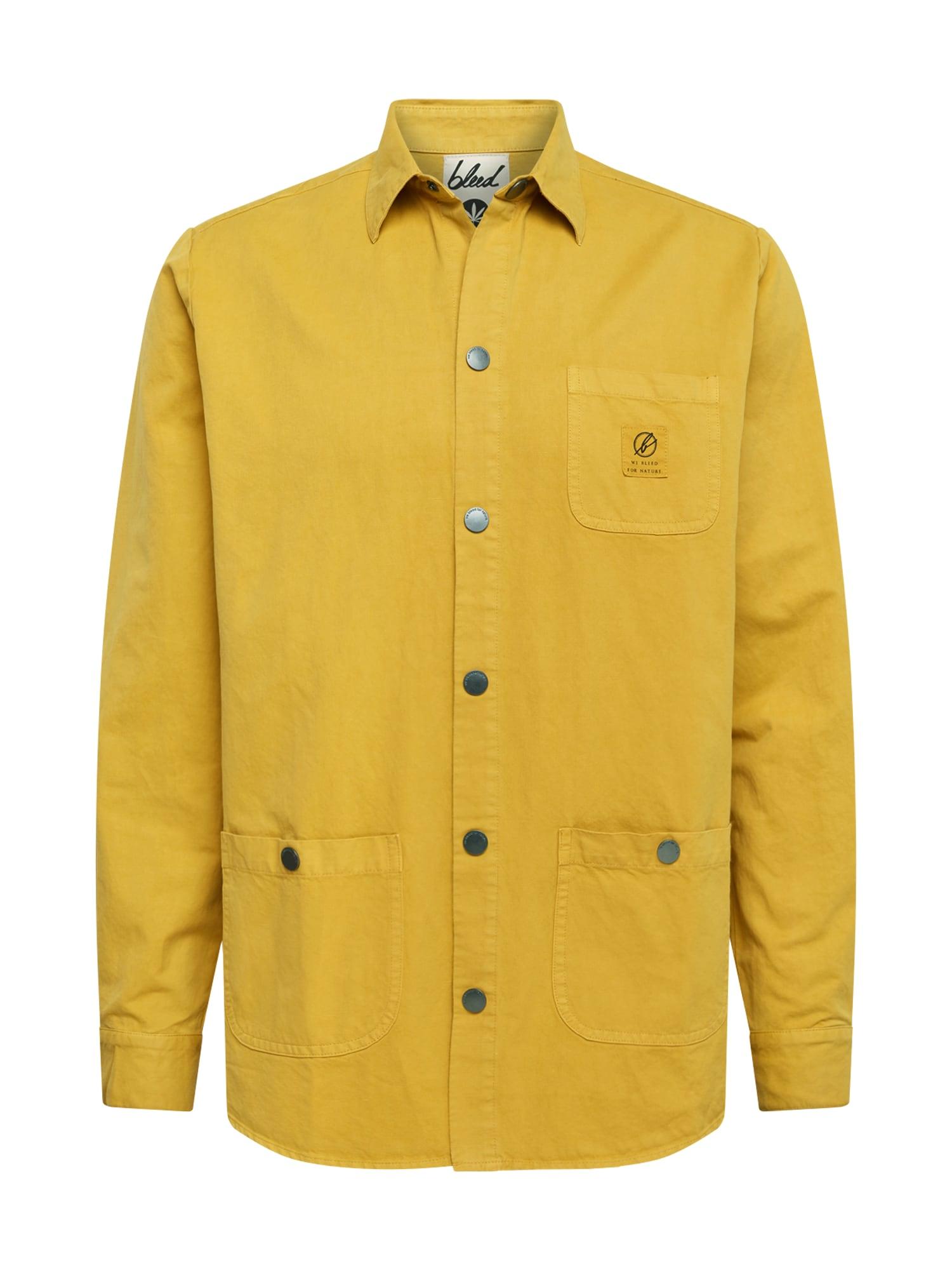 bleed clothing Dalykiniai marškiniai 'Hemp Shacket' garstyčių spalva