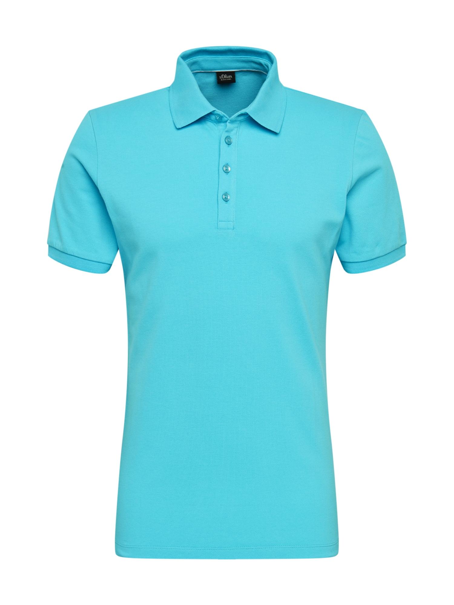 s.Oliver BLACK LABEL Marškinėliai žalsvai mėlyna