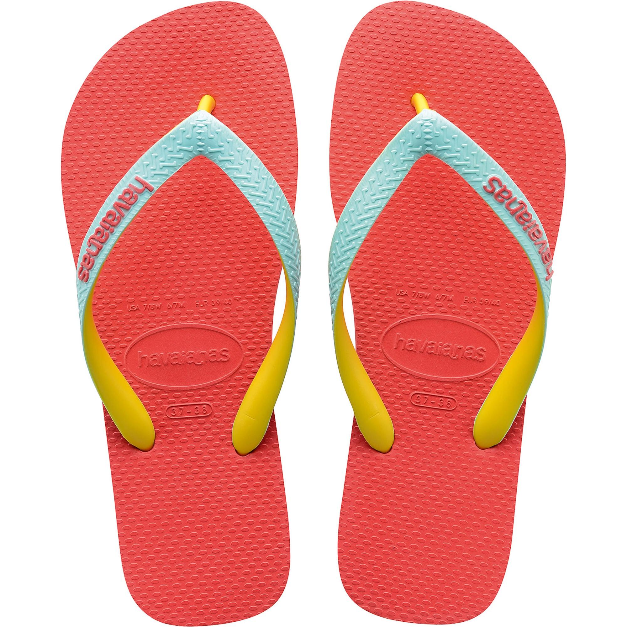 Sandály tyrkysová žlutá lososová HAVAIANAS