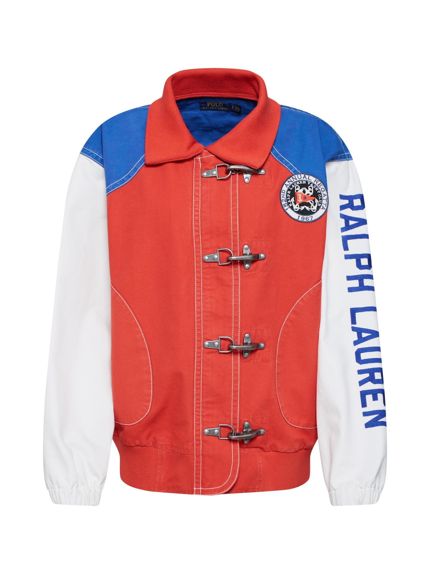 Přechodná bunda modrá červená bílá POLO RALPH LAUREN