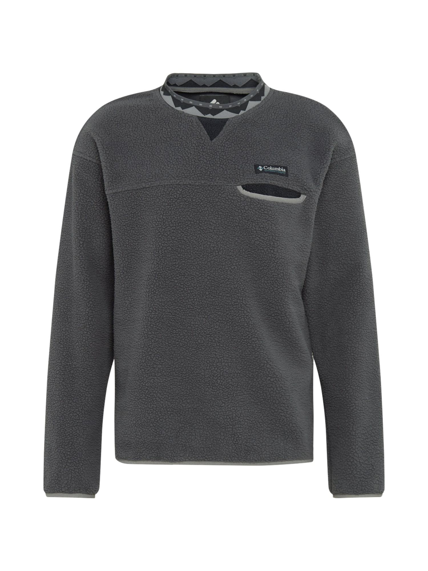 COLUMBIA Sportovní svetr 'Wapitoo™'  černá / tmavě šedá