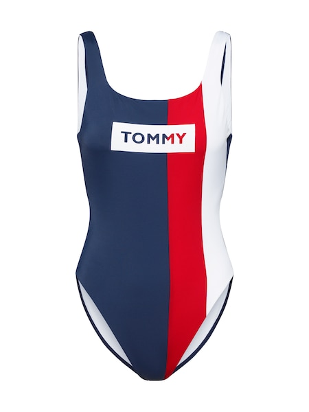 Bademode - Badeanzug 'ONE PIECE' › Tommy Hilfiger Underwear › navy rot  - Onlineshop ABOUT YOU