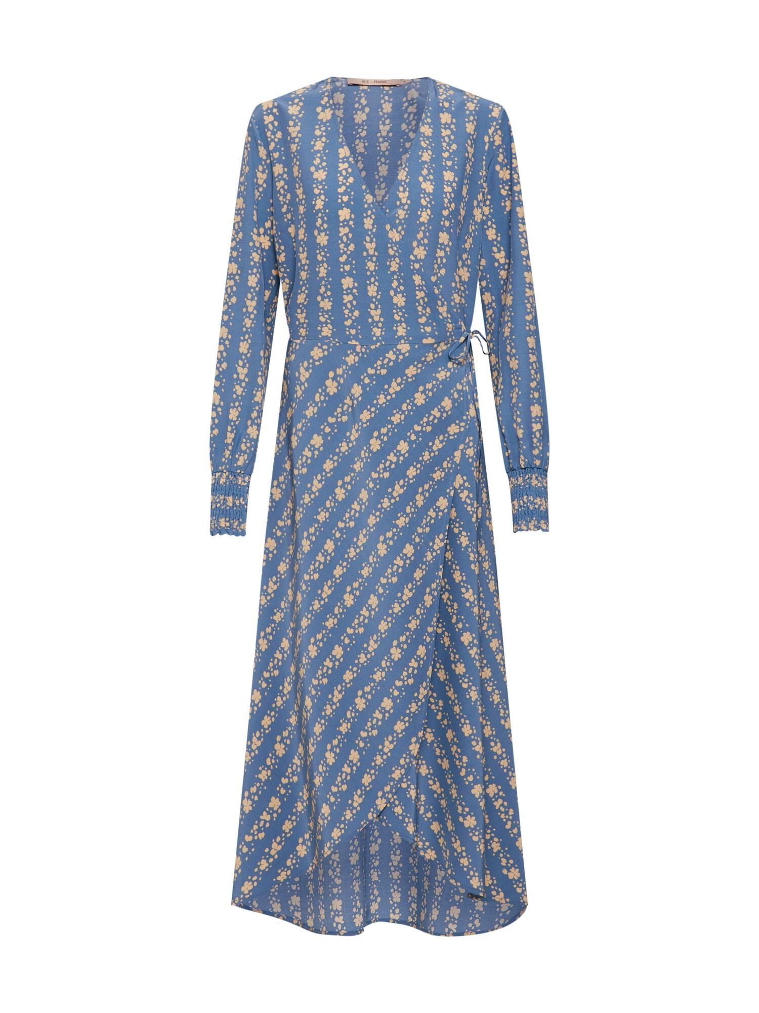 Šaty světle béžová světlemodrá RUE De FEMME
