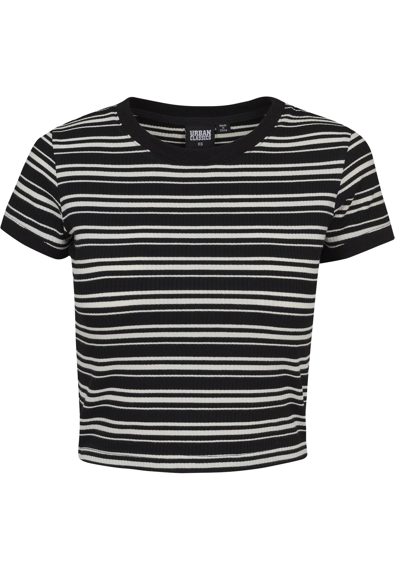 Urban Classics Tricou  negru / alb