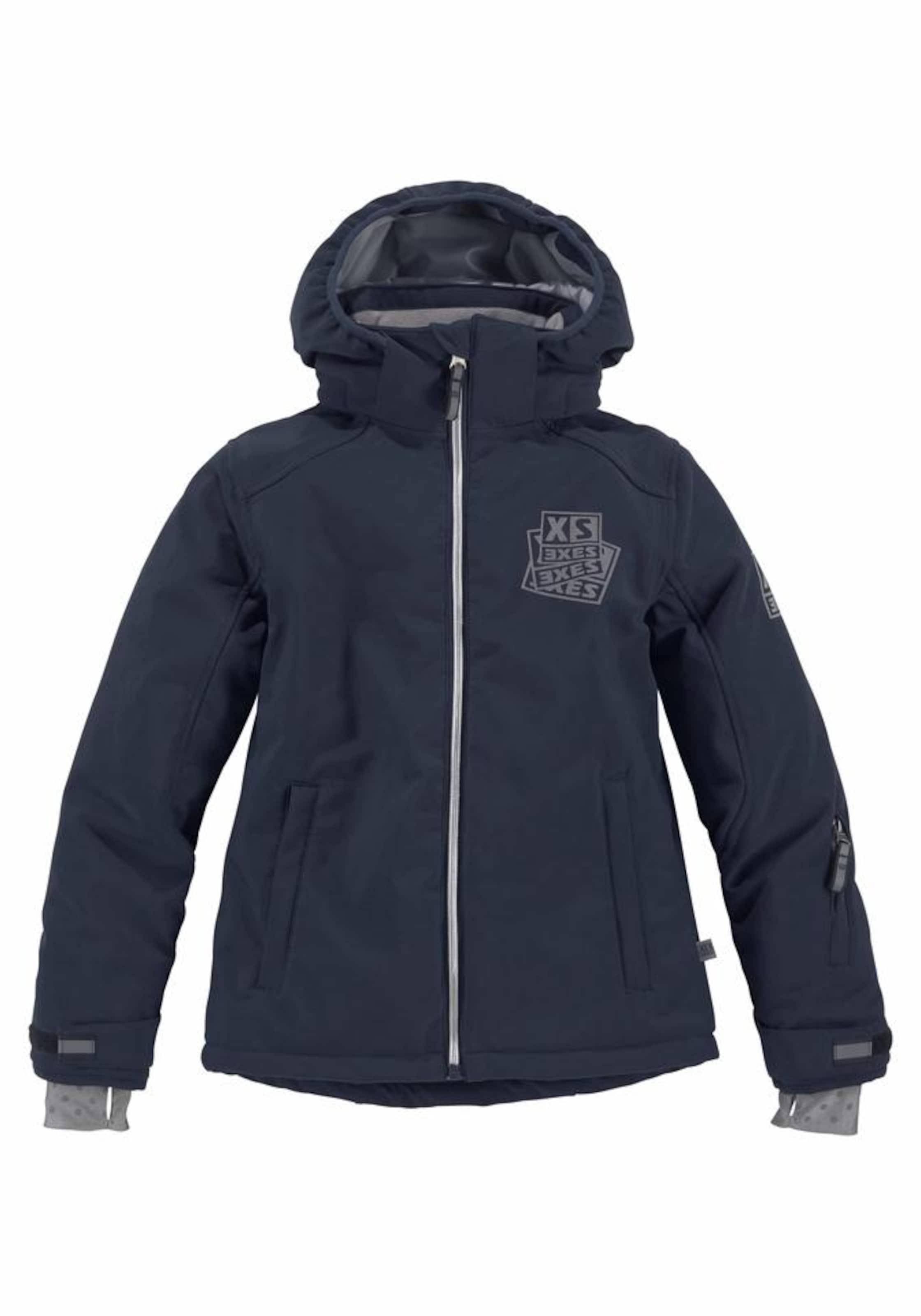 Jungen,  Kinder,  Kinder EXES Jacke blau,  grau, grau | 04043247742964