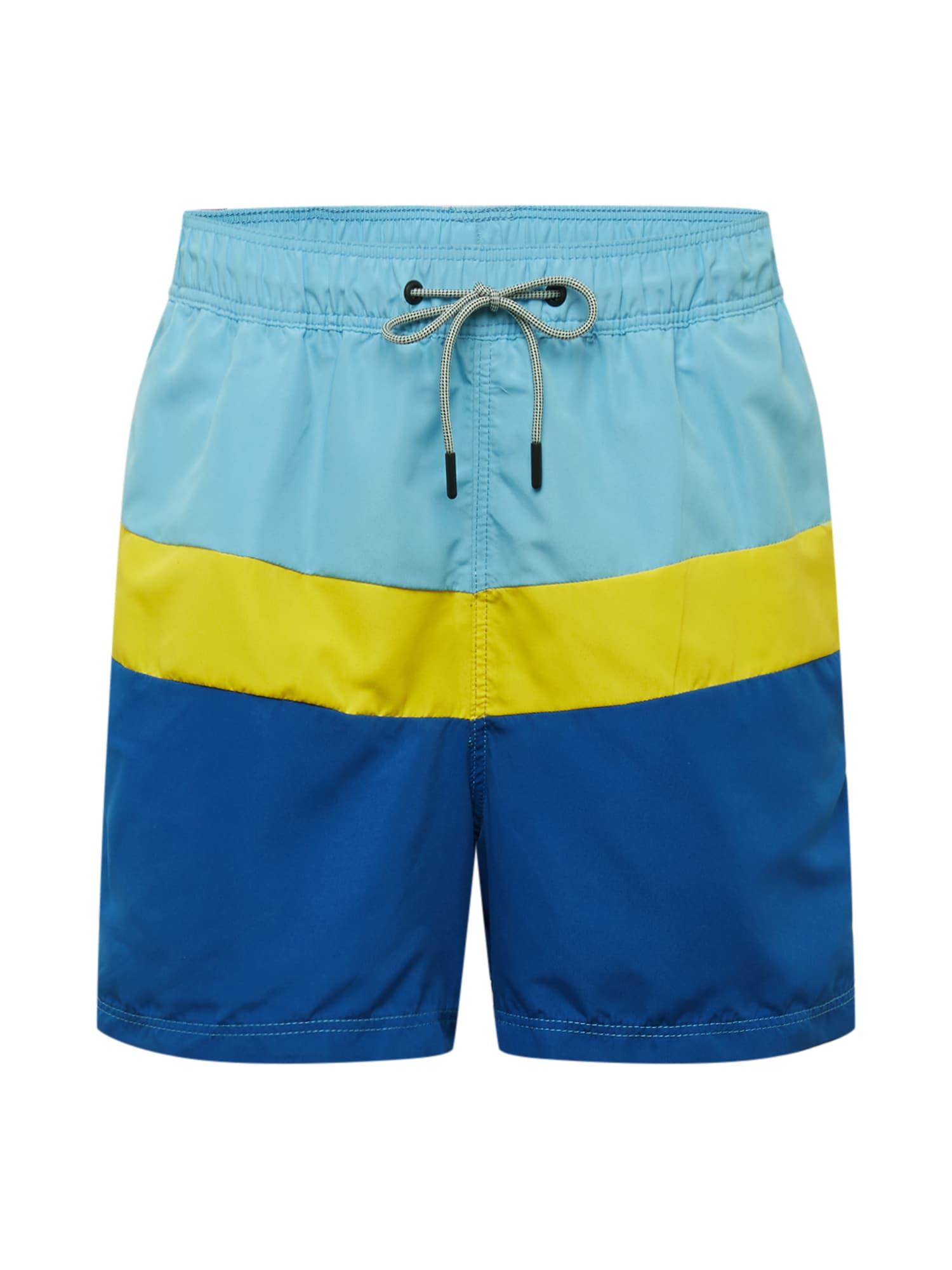 JACK & JONES Plavecké šortky  žlté / modré
