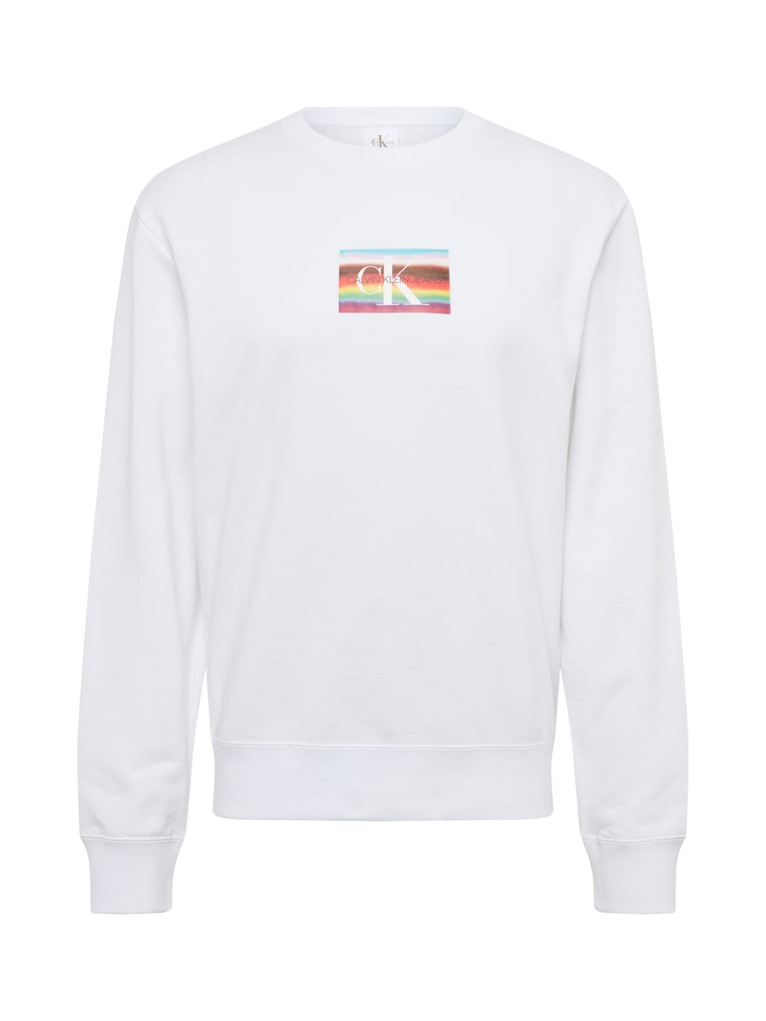 Calvin Klein Jeans Megztinis be užsegimo mišrios spalvos / balta
