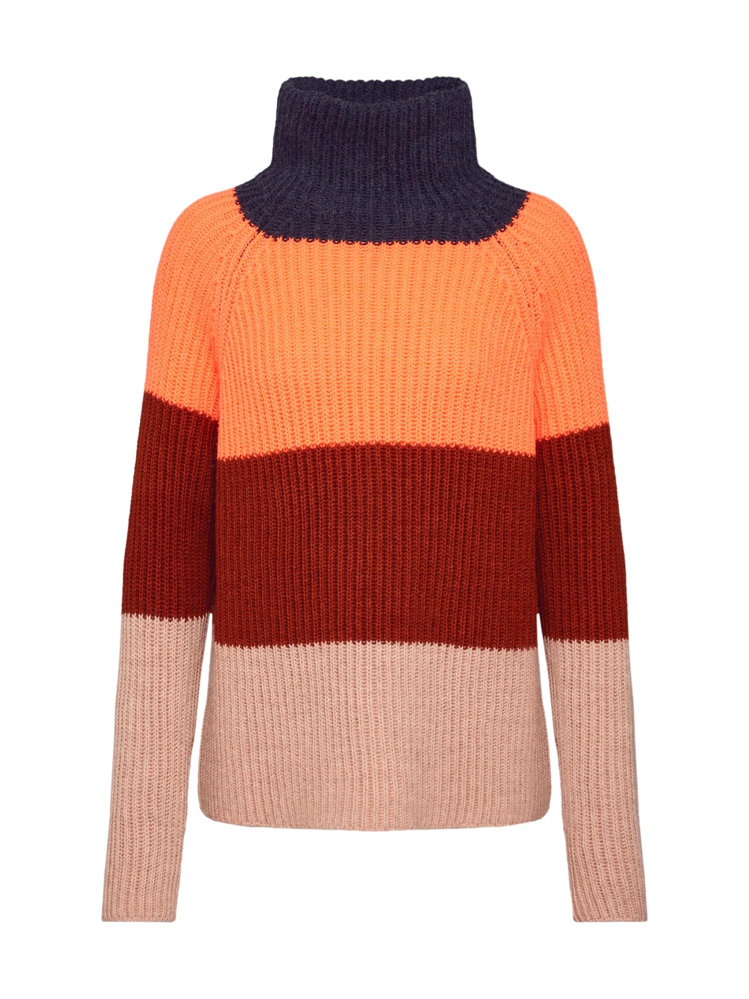 DRYKORN Megztinis 'ARWEN' tamsiai mėlyna / rožinė / vyno raudona spalva / oranžinė-raudona