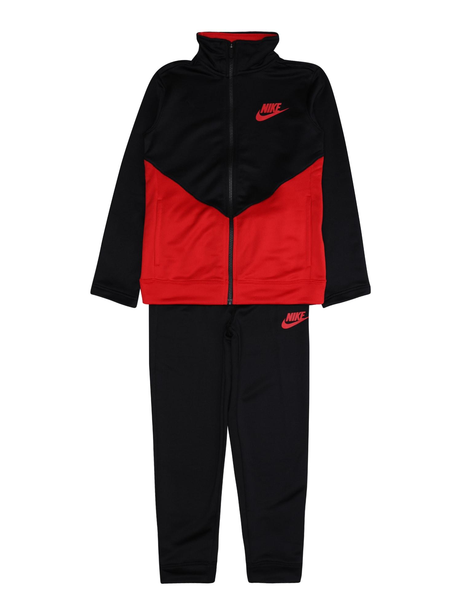 Nike Sportswear Laisvalaikio kostiumas juoda / raudona