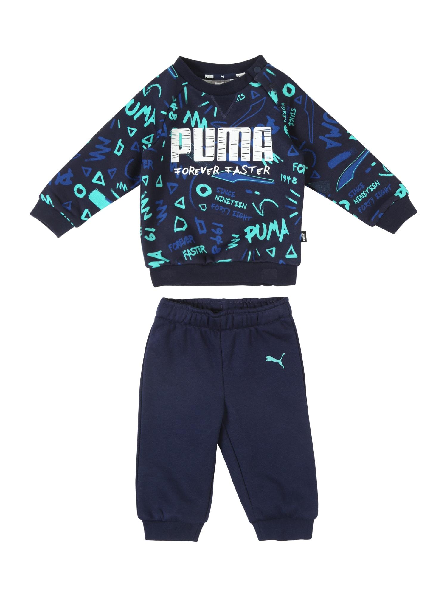 Joggingová souprava modrá mix barev PUMA