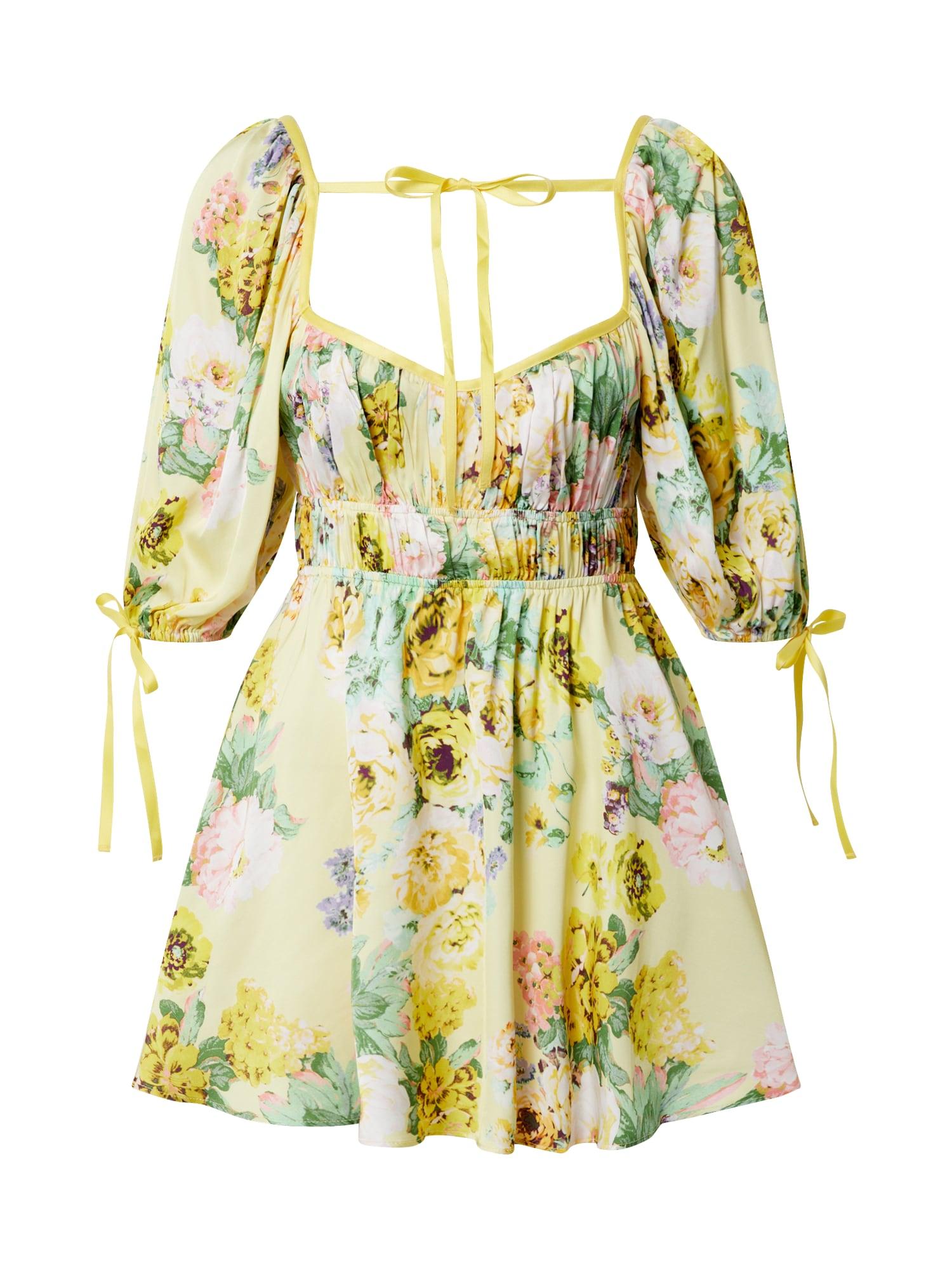For Love & Lemons Šaty 'Leigh'  žlté / zmiešané farby