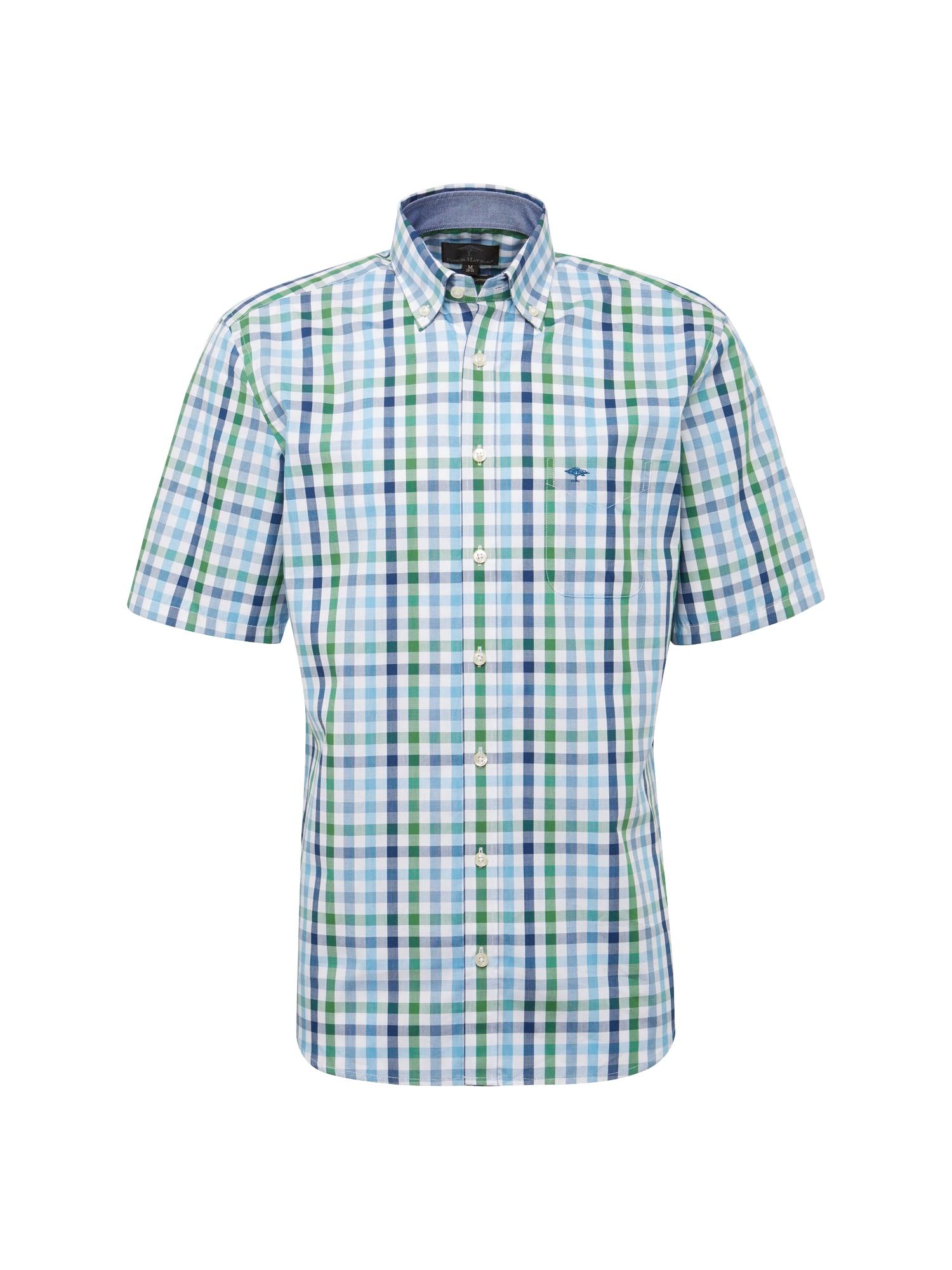 Košile světlemodrá zelená bílá FYNCH-HATTON