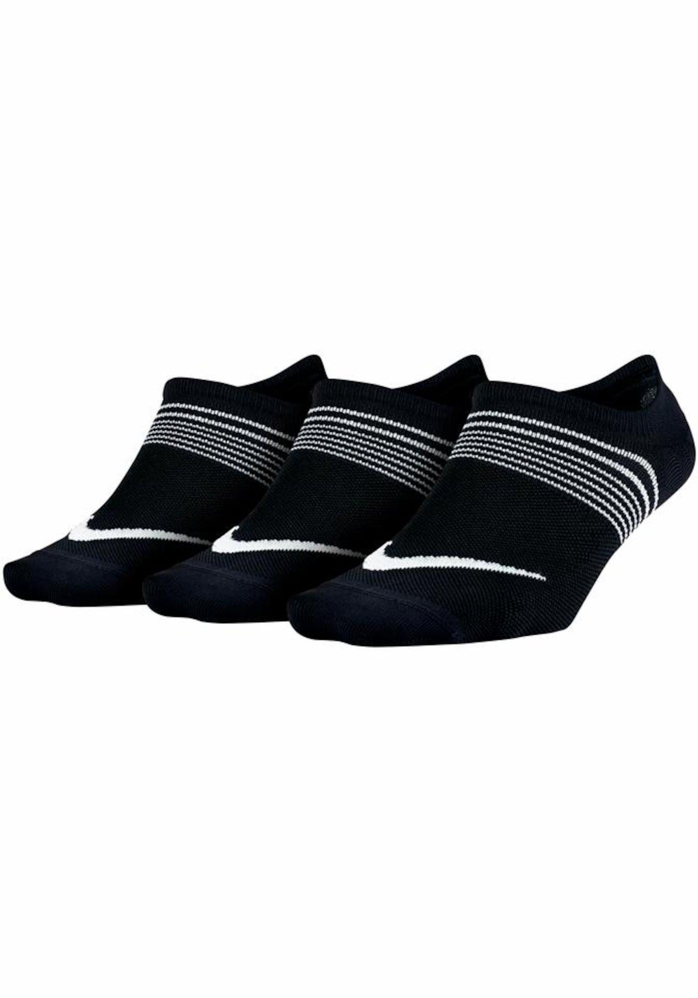NIKE Sportinės kojinės juoda / balta