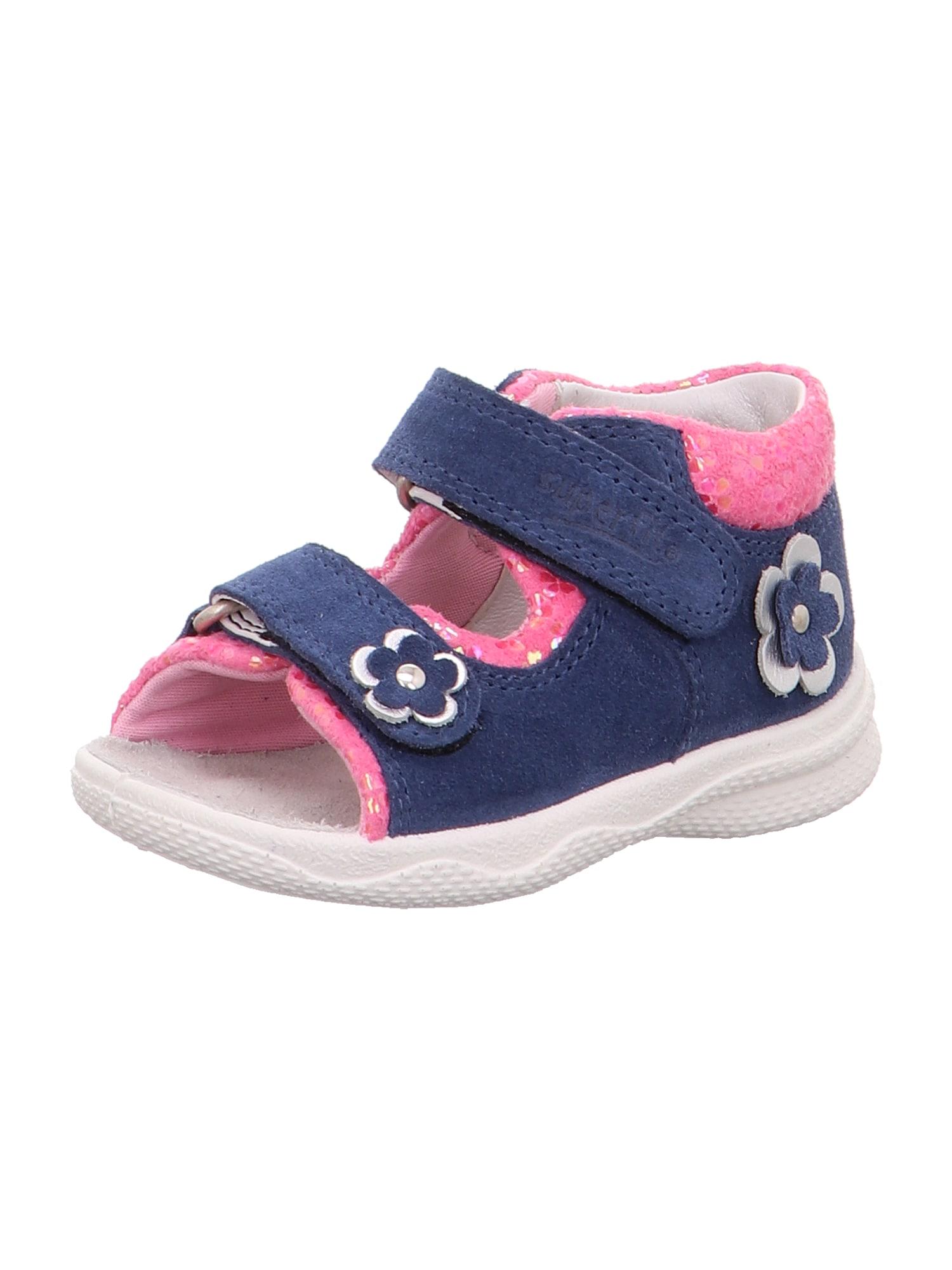 SUPERFIT Sandalai 'POLLY' rožių spalva / mėlyna