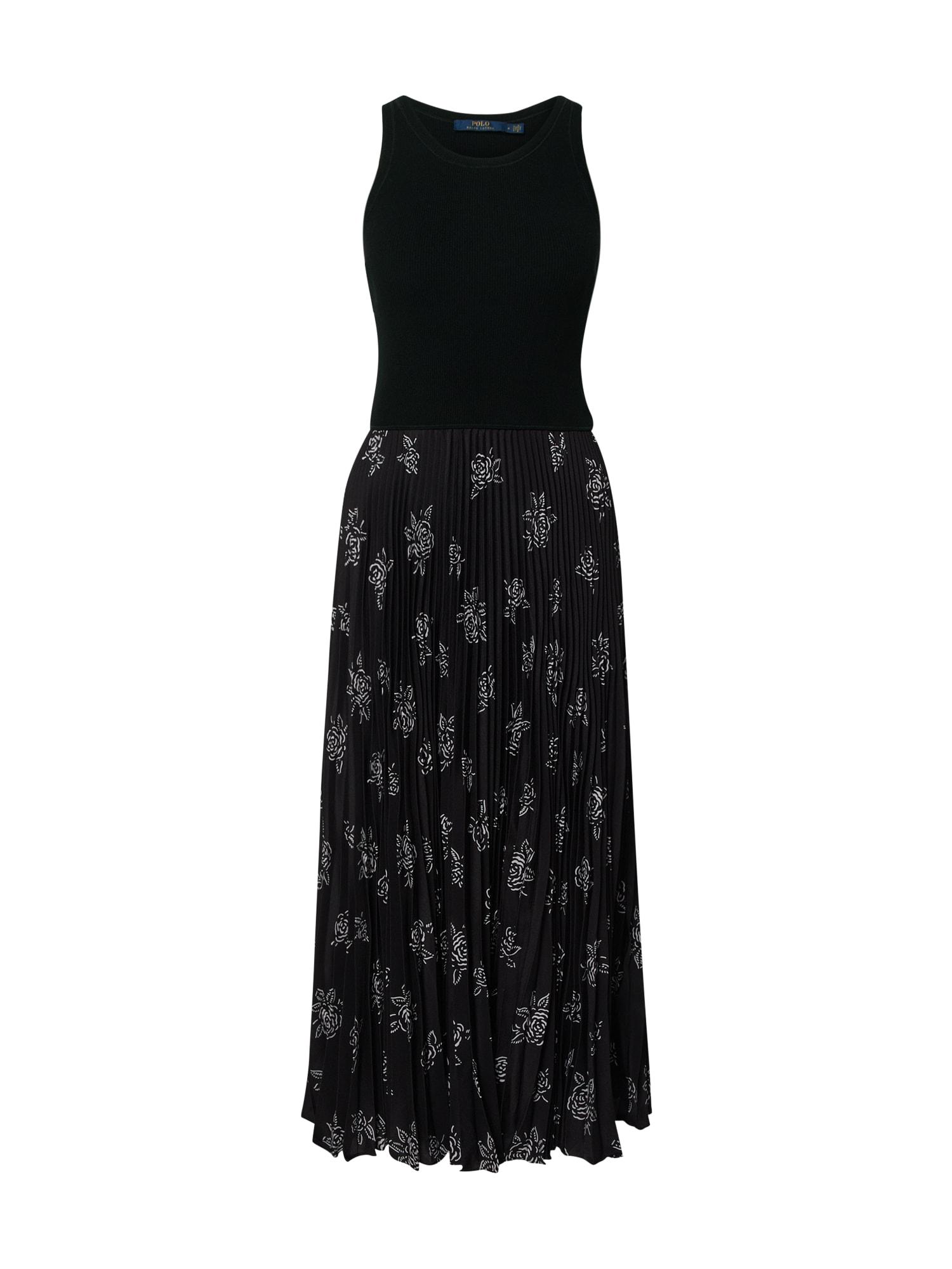 POLO RALPH LAUREN Kokteilinė suknelė rožių spalva / juoda