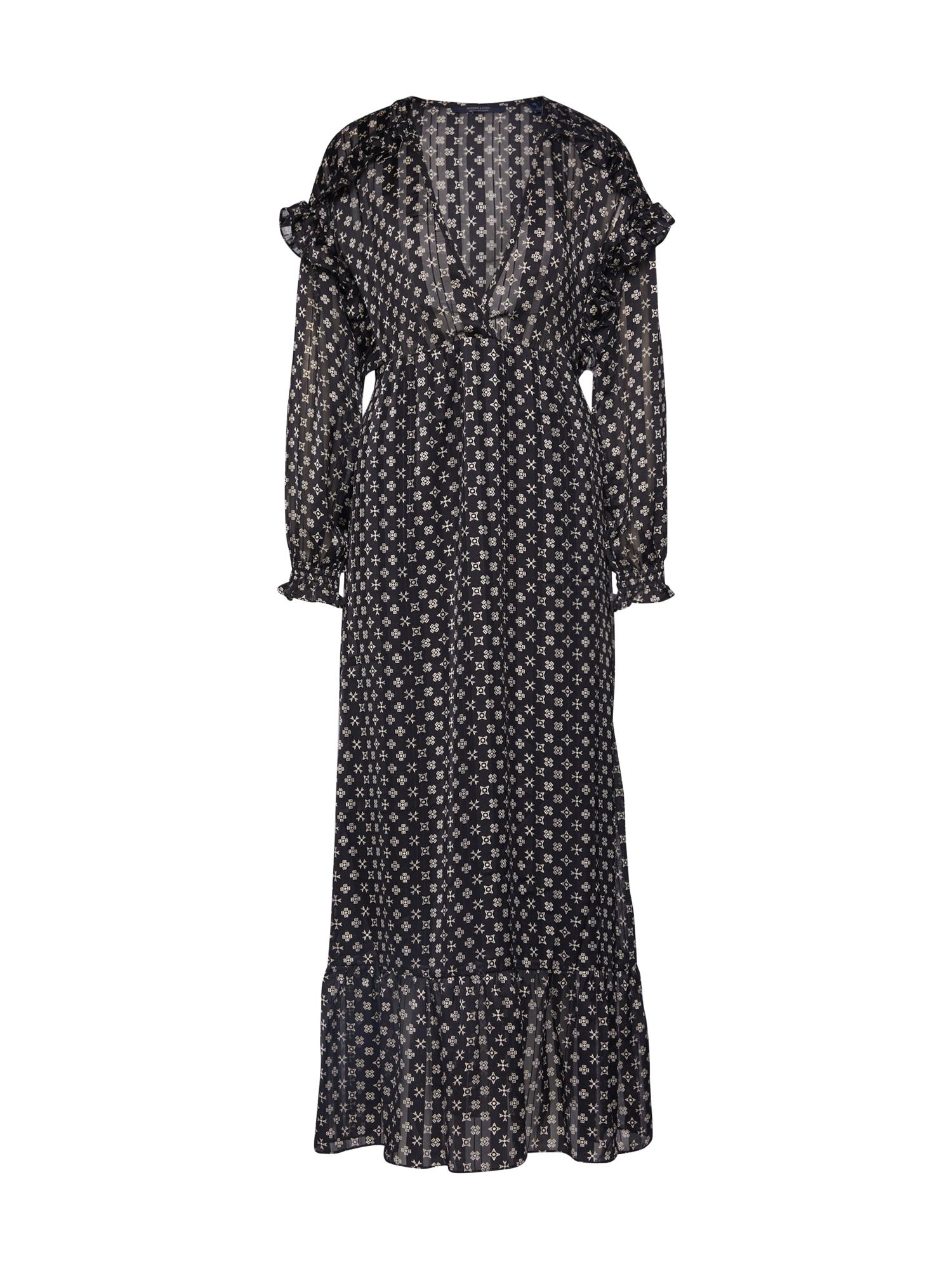 SCOTCH & SODA Večerné šaty  biela / čierna