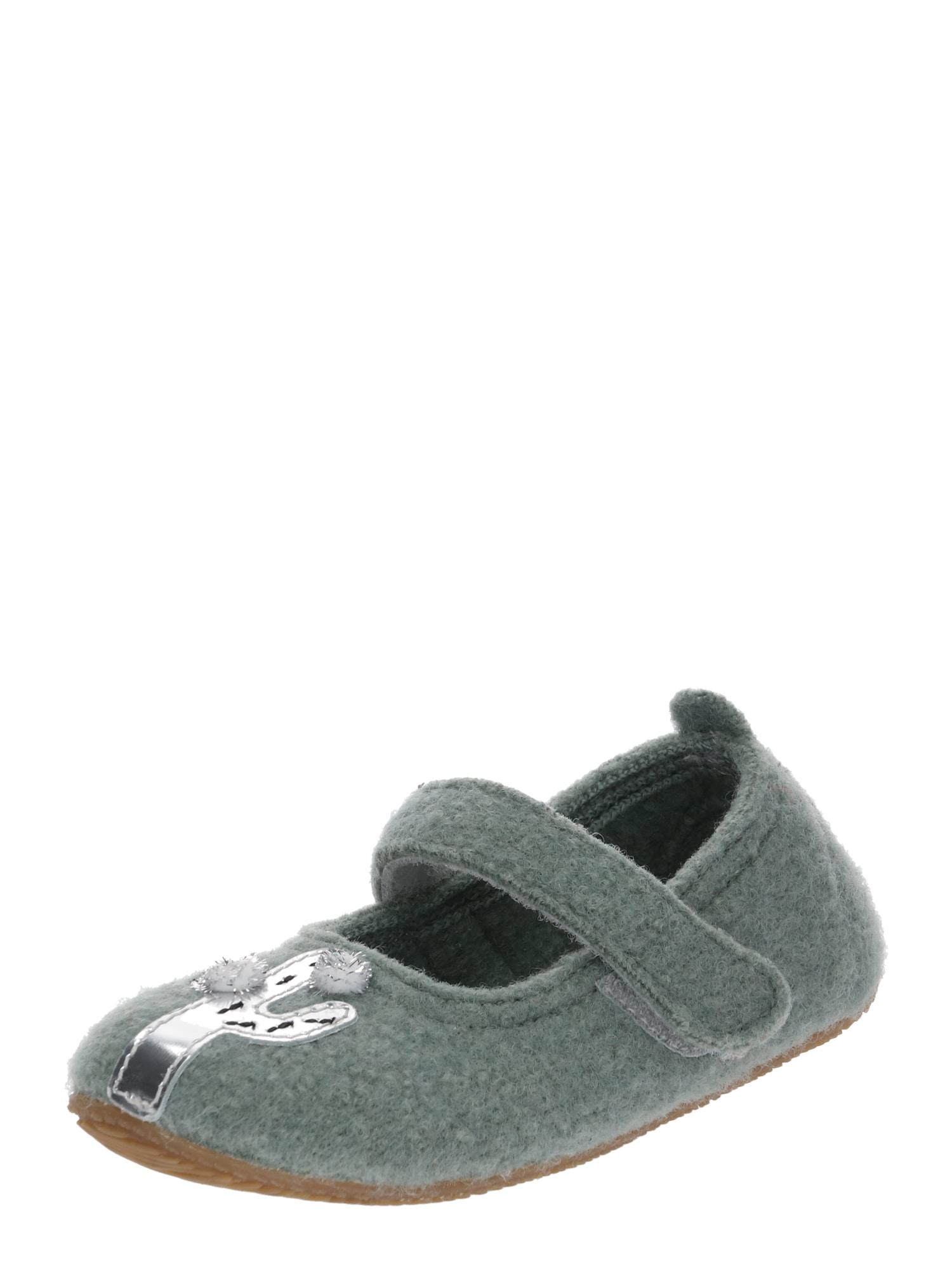 Pantofle zelená bílá Living Kitzbühel