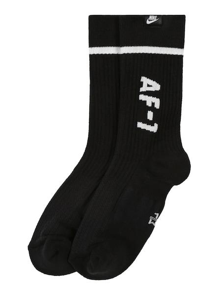Socken für Frauen - Nike Sportswear Socken 'U SNKR SOX AF1 CREW' schwarz weiß  - Onlineshop ABOUT YOU