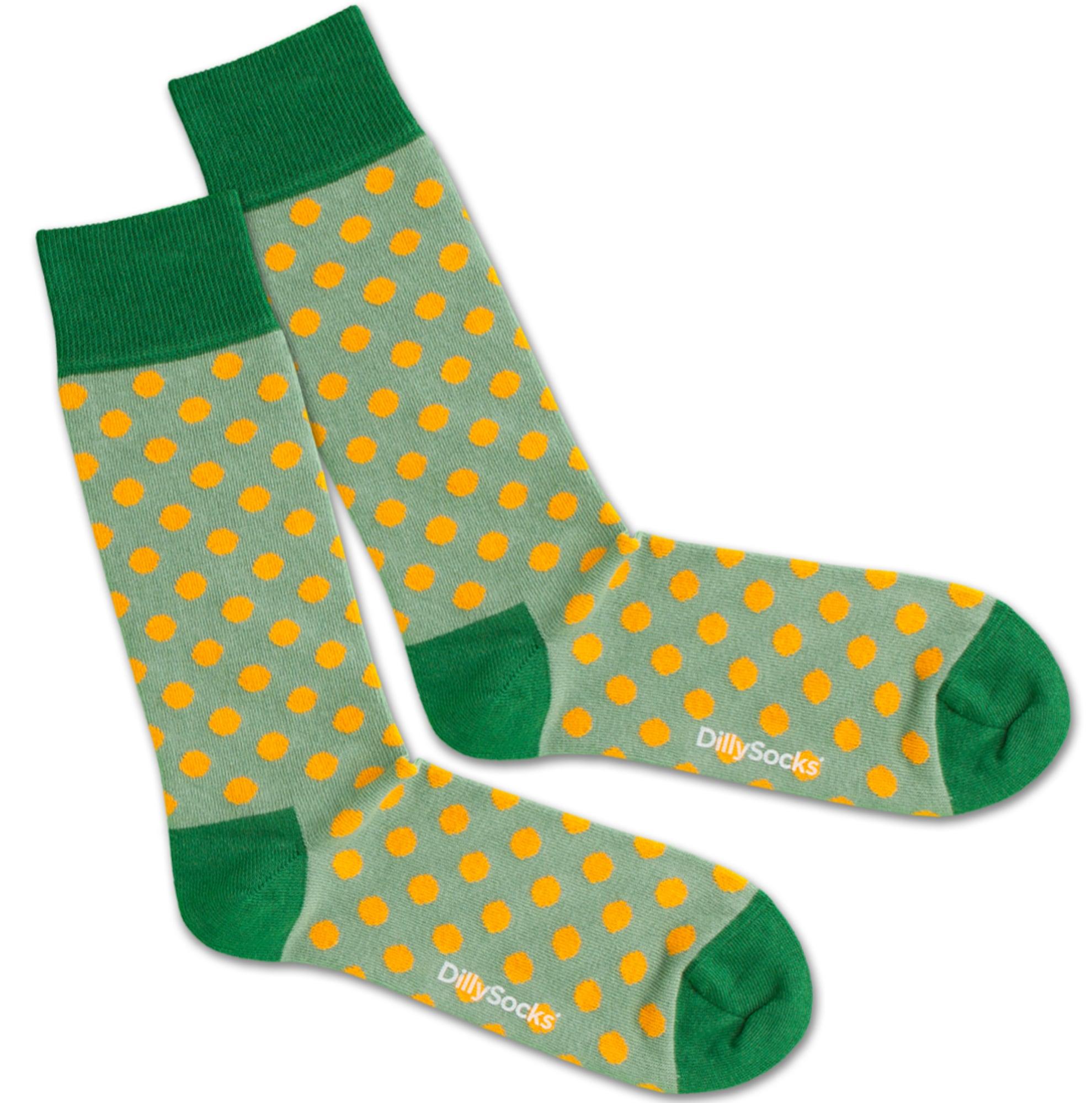 Ponožky Orange Field zelená oranžová DillySocks