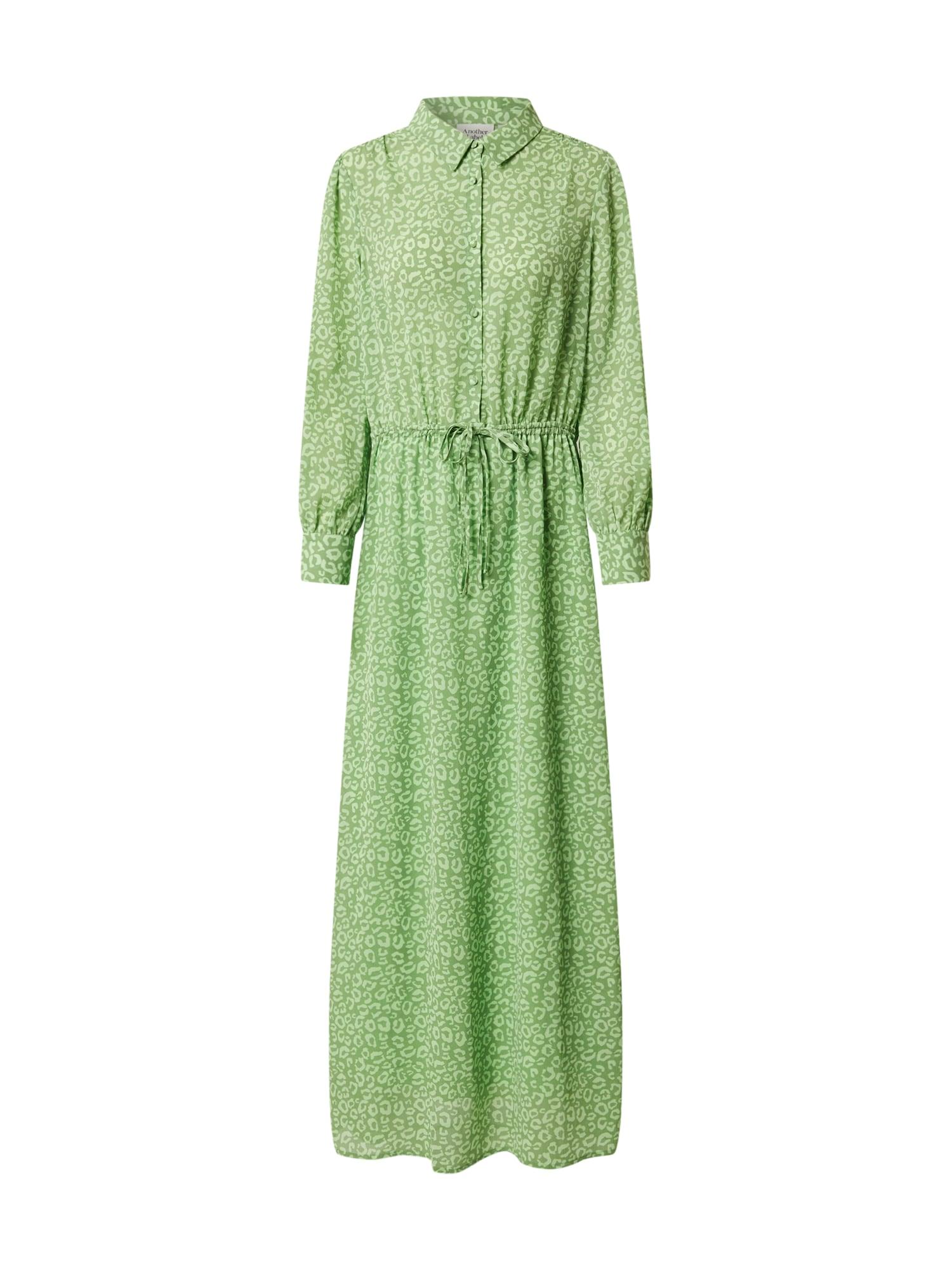 Another Label Košeľové šaty 'Maley'  svetlozelená