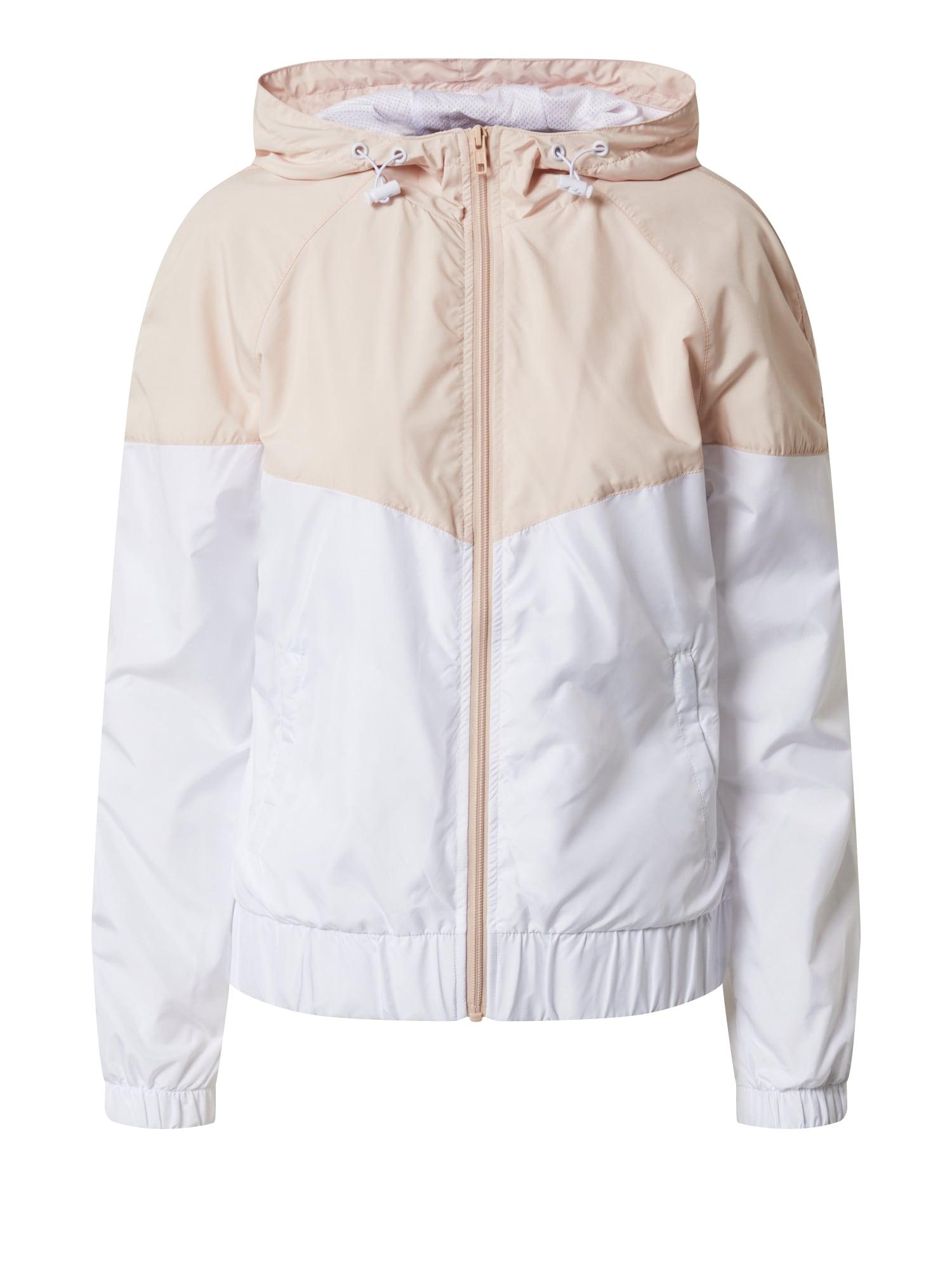 Urban Classics Přechodná bunda  bílá / růžová