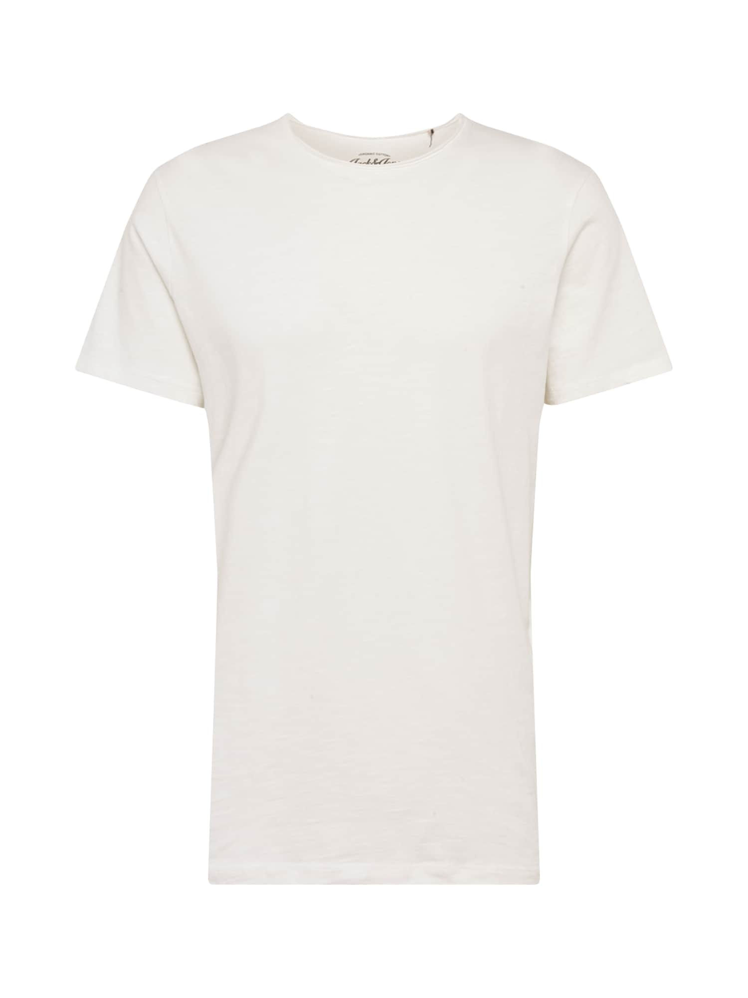 JACK & JONES Marškinėliai 'JJEASHER' balkšva