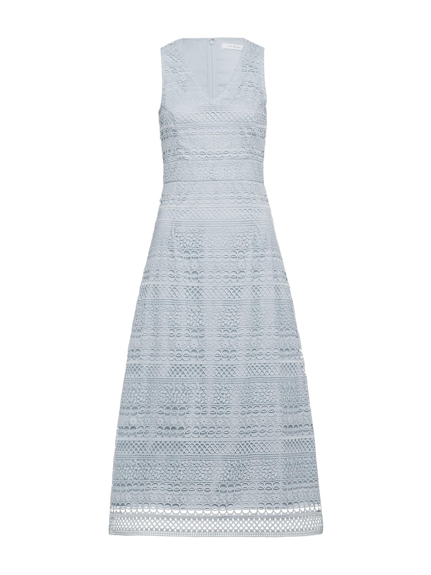 Koktejlové šaty Graphic Lace Dress modrá IVY & OAK