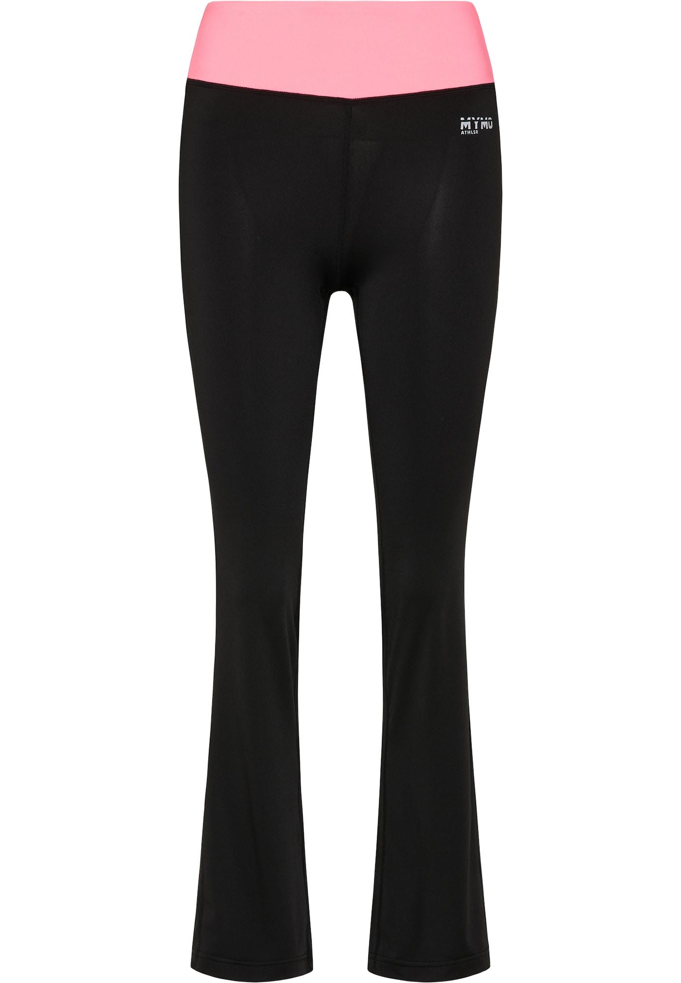 myMo ATHLSR Sportinės kelnės juoda / šviesiai rožinė