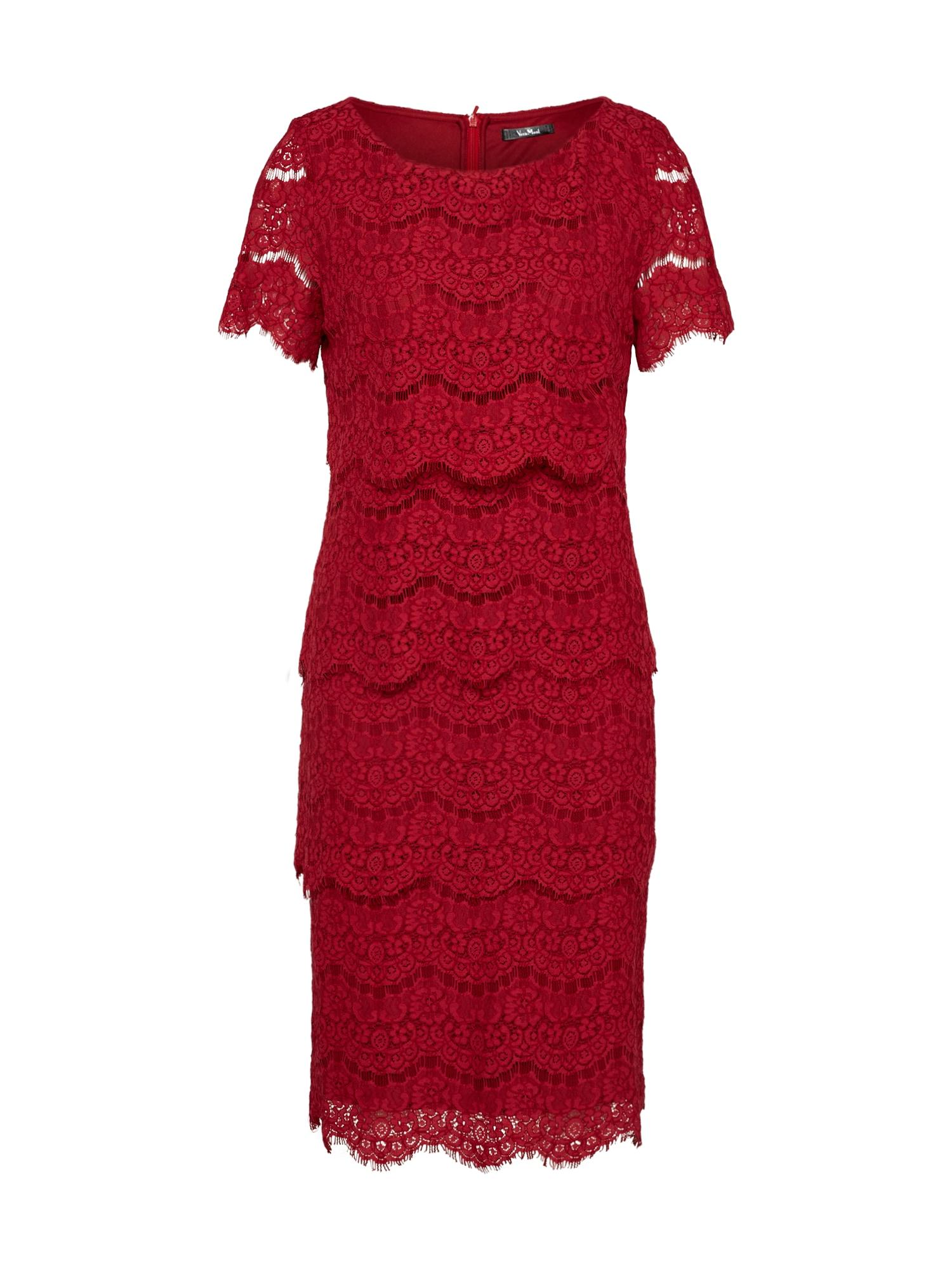 Koktejlové šaty červená Vera Mont