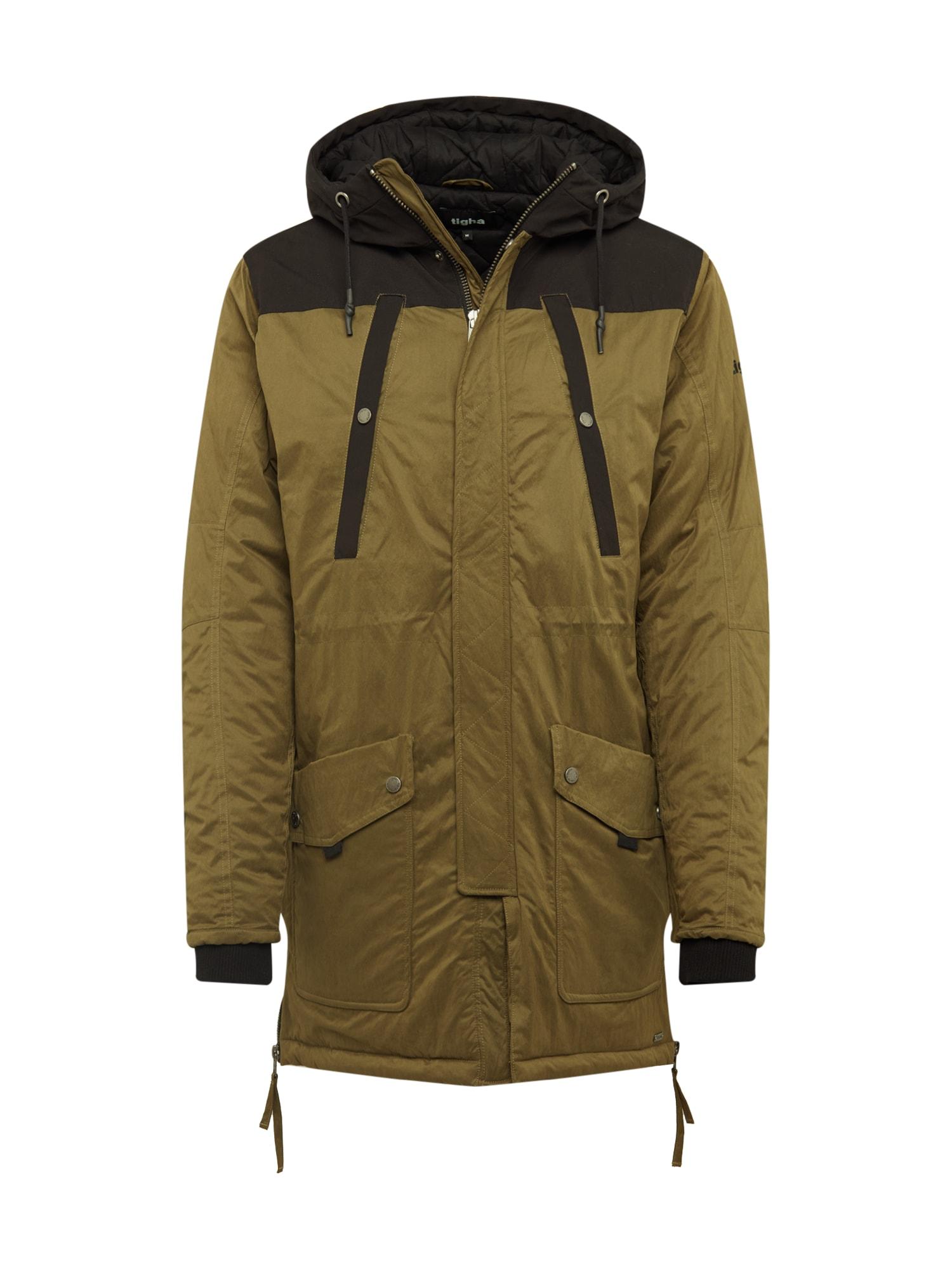 tigha Ilga rudeninė-žieminė striukė 'Owen' alyvuogių spalva / juoda