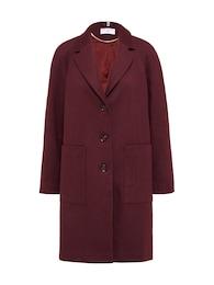 Heine Damen Wollmantel mit Taschen bordeaux,rot | 04251032710634