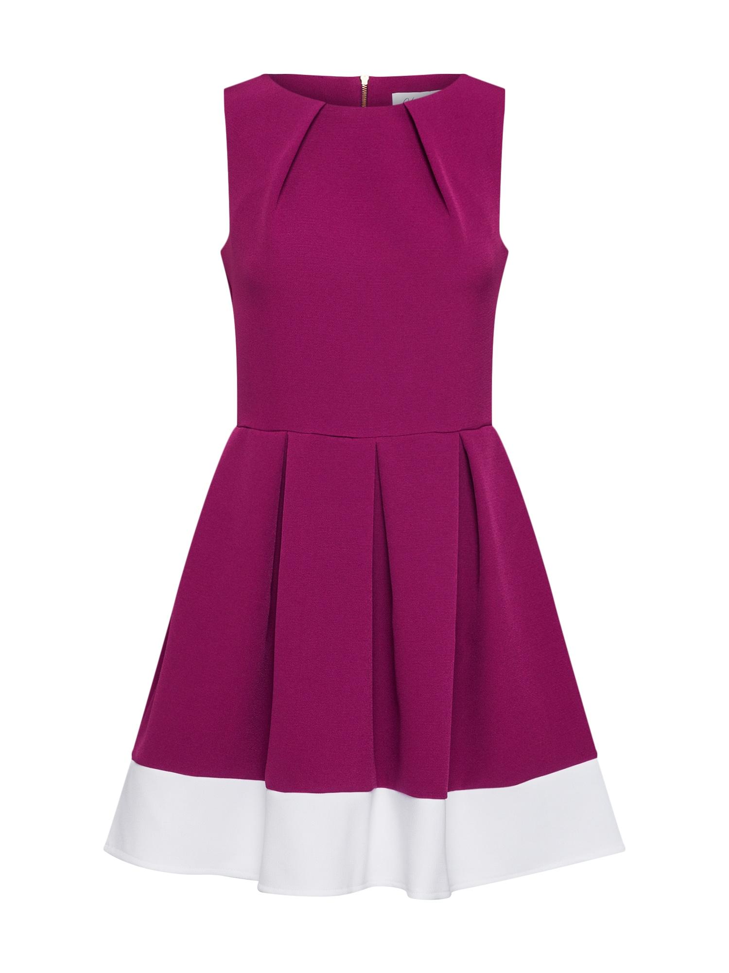 Closet London Trumpa kokteilinė suknelė uogų spalva