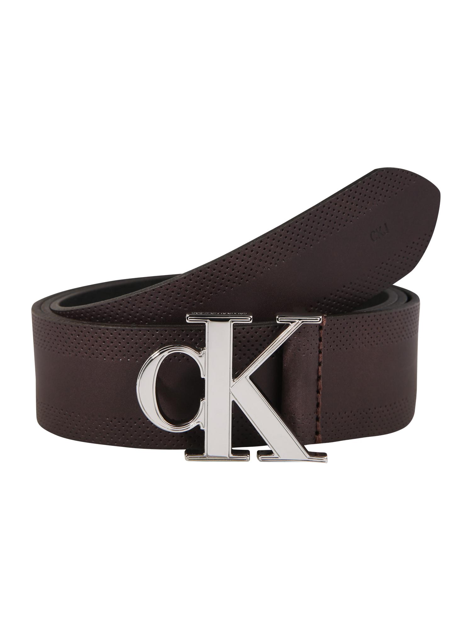 Calvin Klein Jeans Diržas 'GYM CLASS MONOGRAM 35MM' ruda
