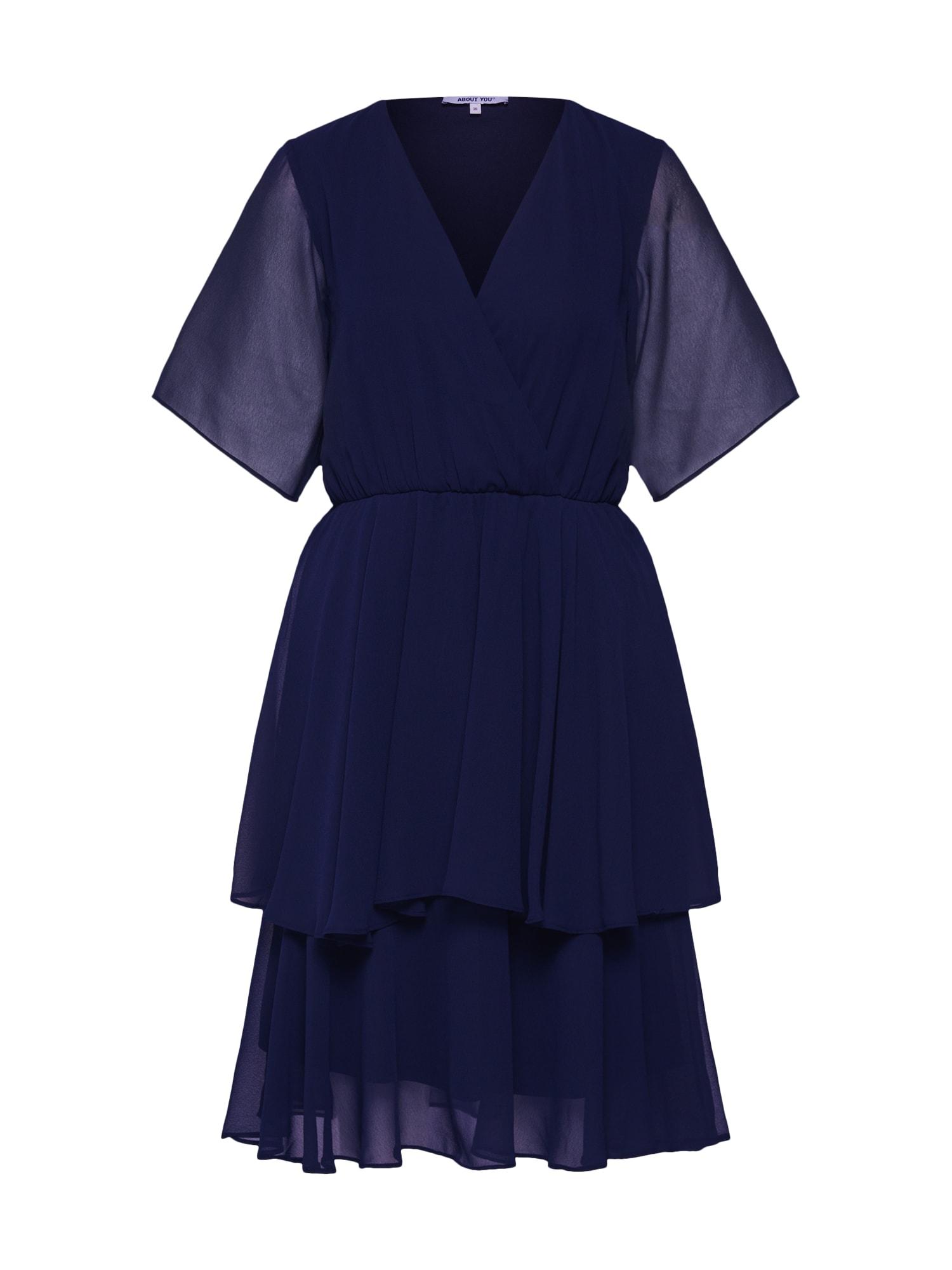 ABOUT YOU Kokteilinė suknelė 'Leia Dress' tamsiai mėlyna