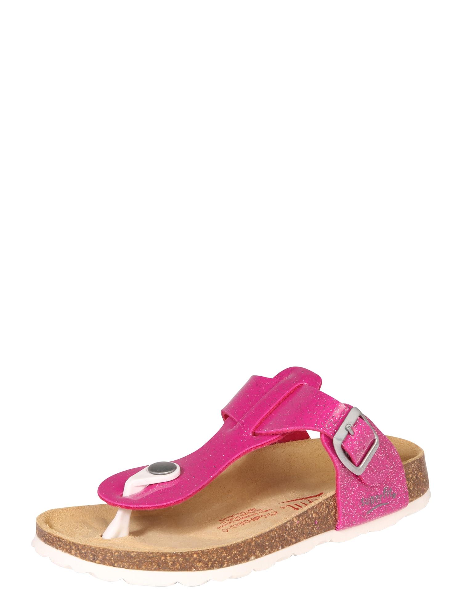 Sandály FUSSBETTPANTOFFEL pink SUPERFIT
