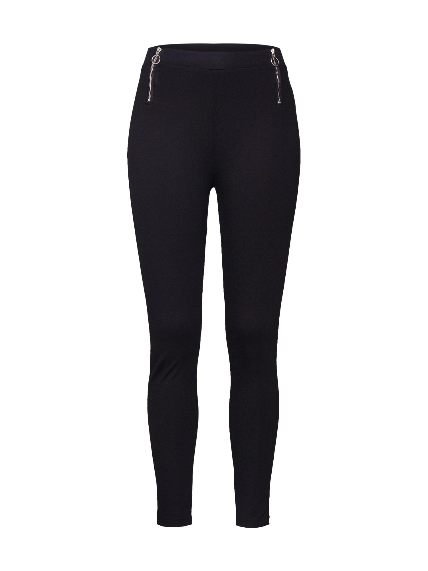 ABOUT YOU Chino stiliaus kelnės 'Florence Leggings' juoda
