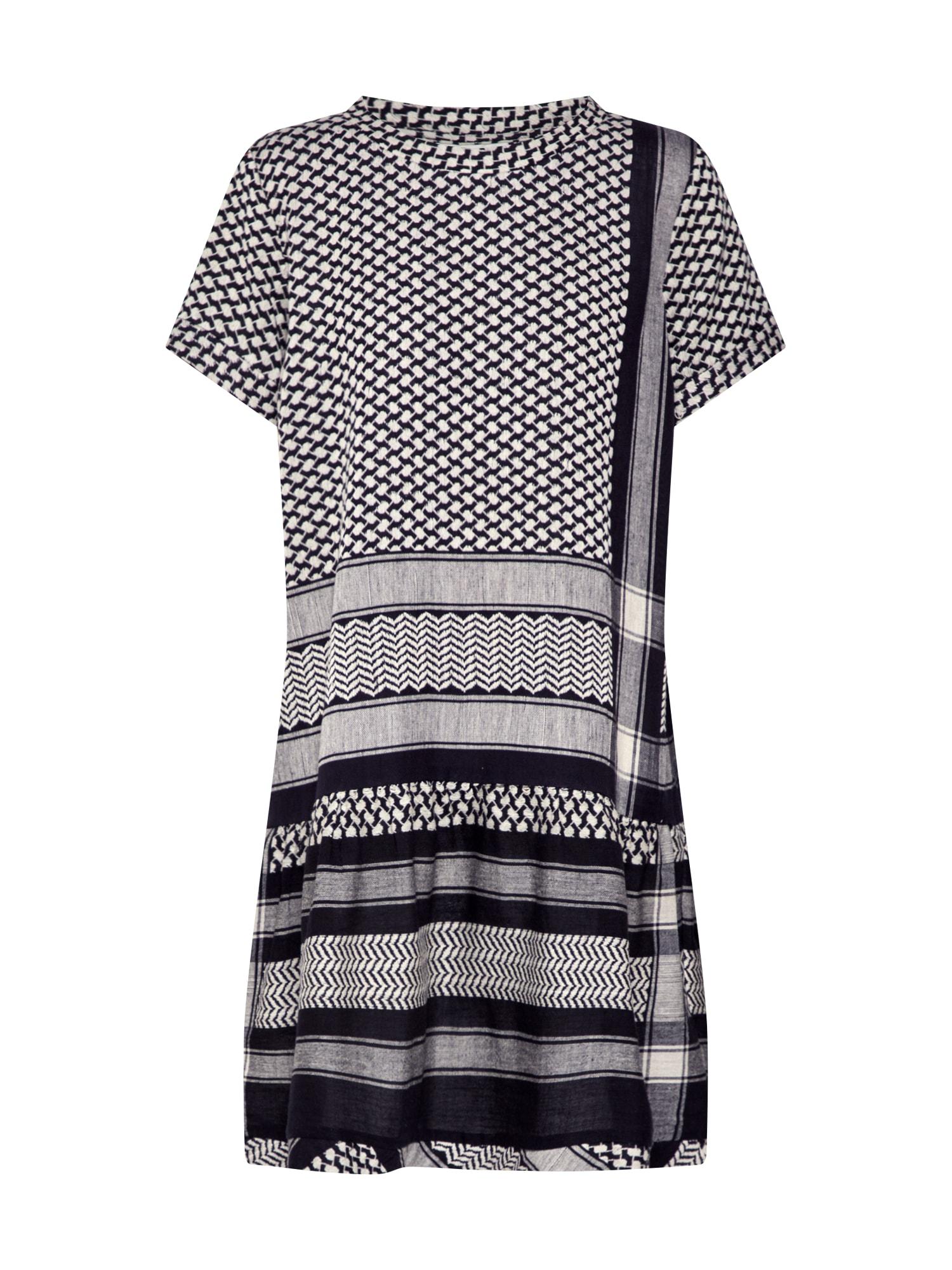 Cecilie Copenhagen Suknelė 'Dress 2 O SS' smėlio / juoda