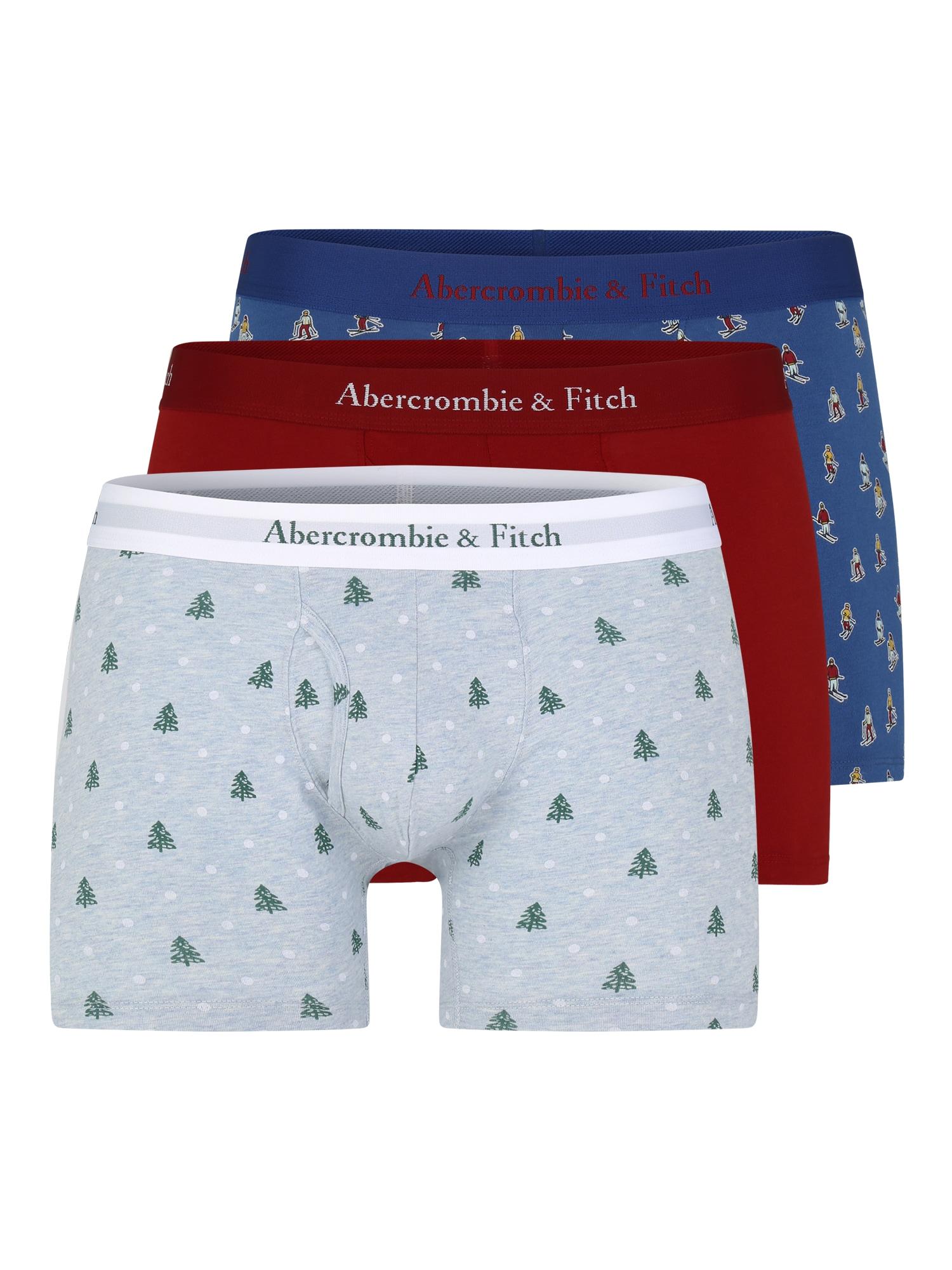 Boxerky modrá červená Abercrombie & Fitch